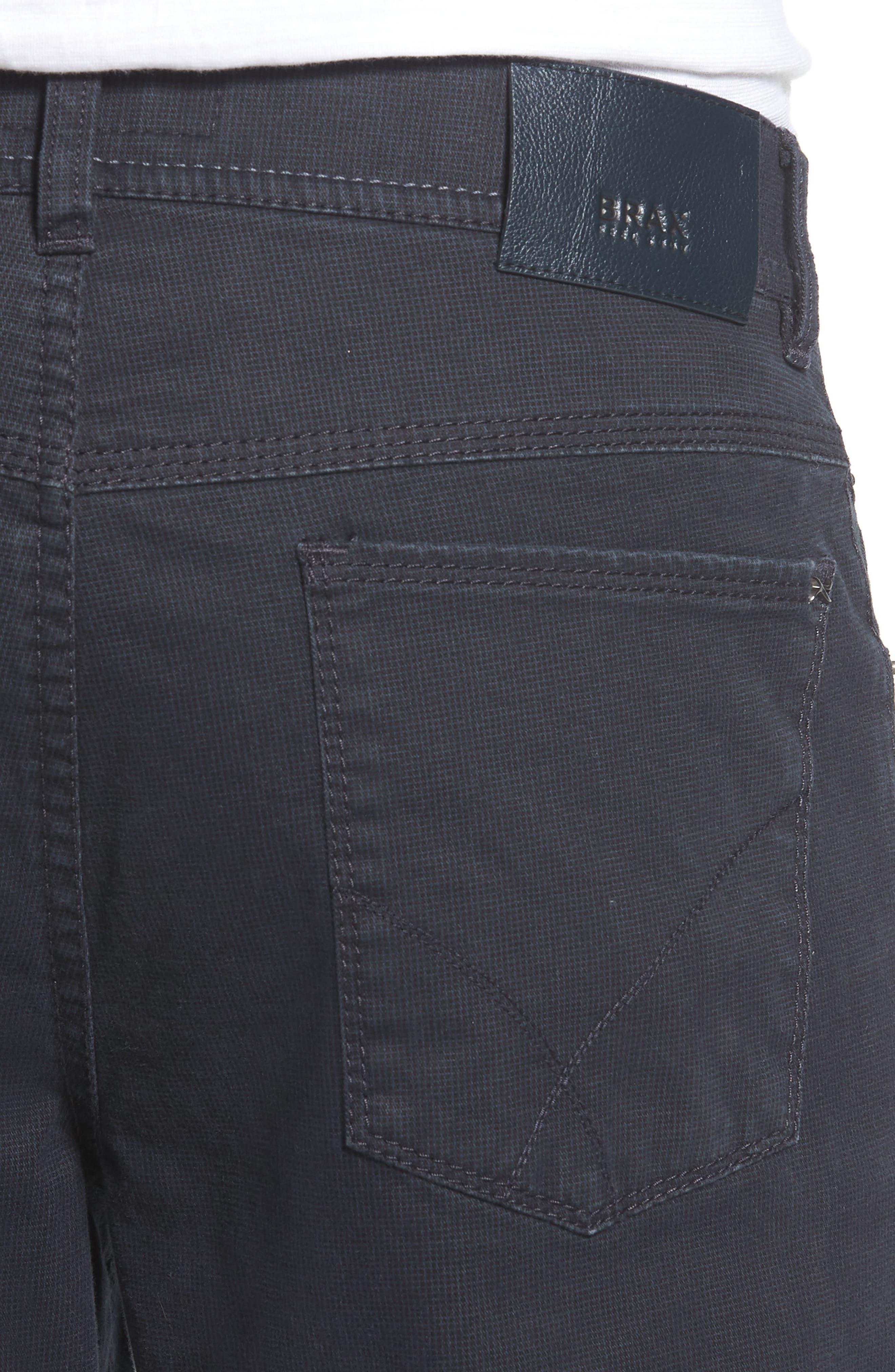 Neat Print Stretch Cotton Pants,                             Alternate thumbnail 4, color,                             410