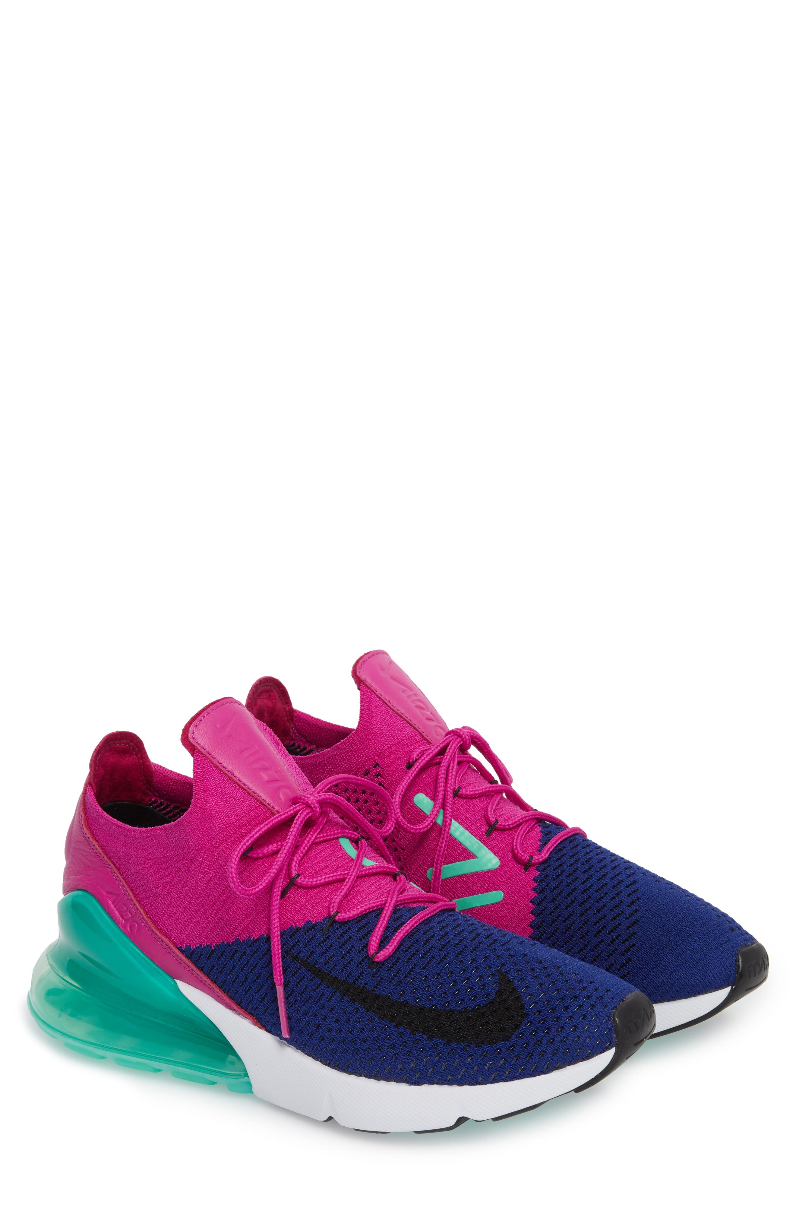 Air Max 270 Flyknit Sneaker,                             Alternate thumbnail 12, color,