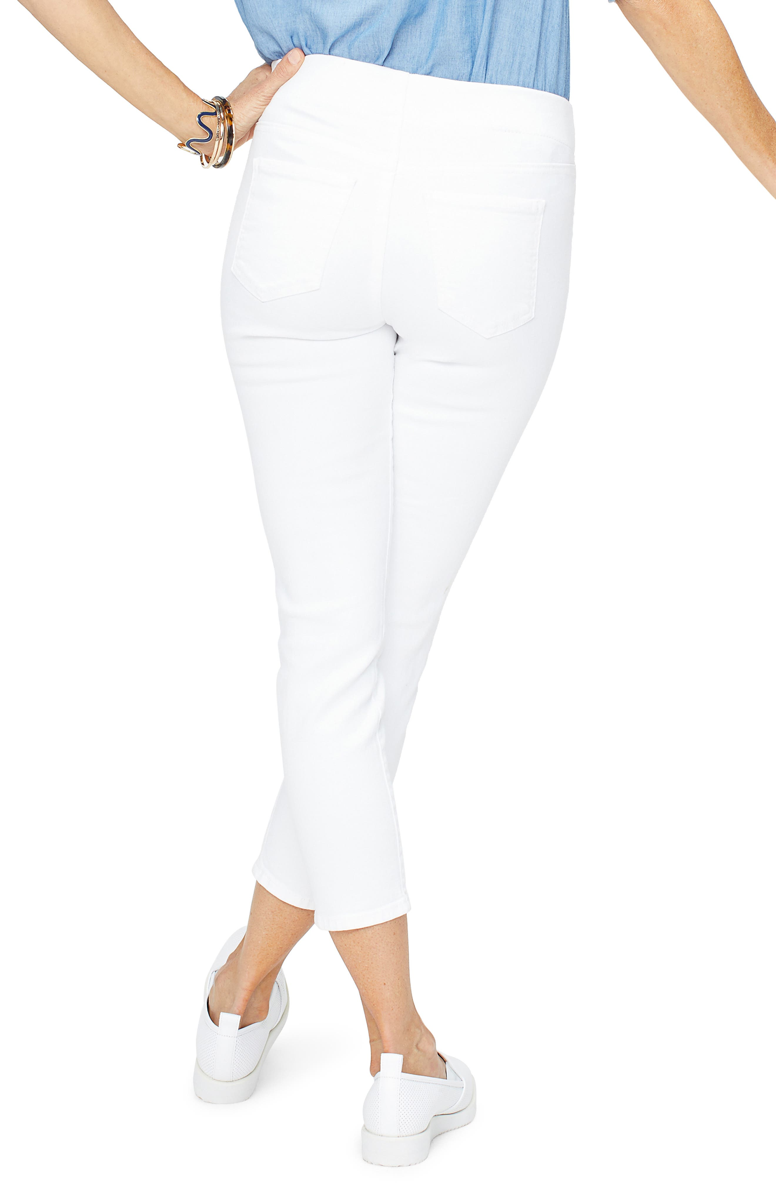 NYDJ,                             Millie Ankle Skinny Jeans,                             Alternate thumbnail 2, color,                             OPTIC WHITE