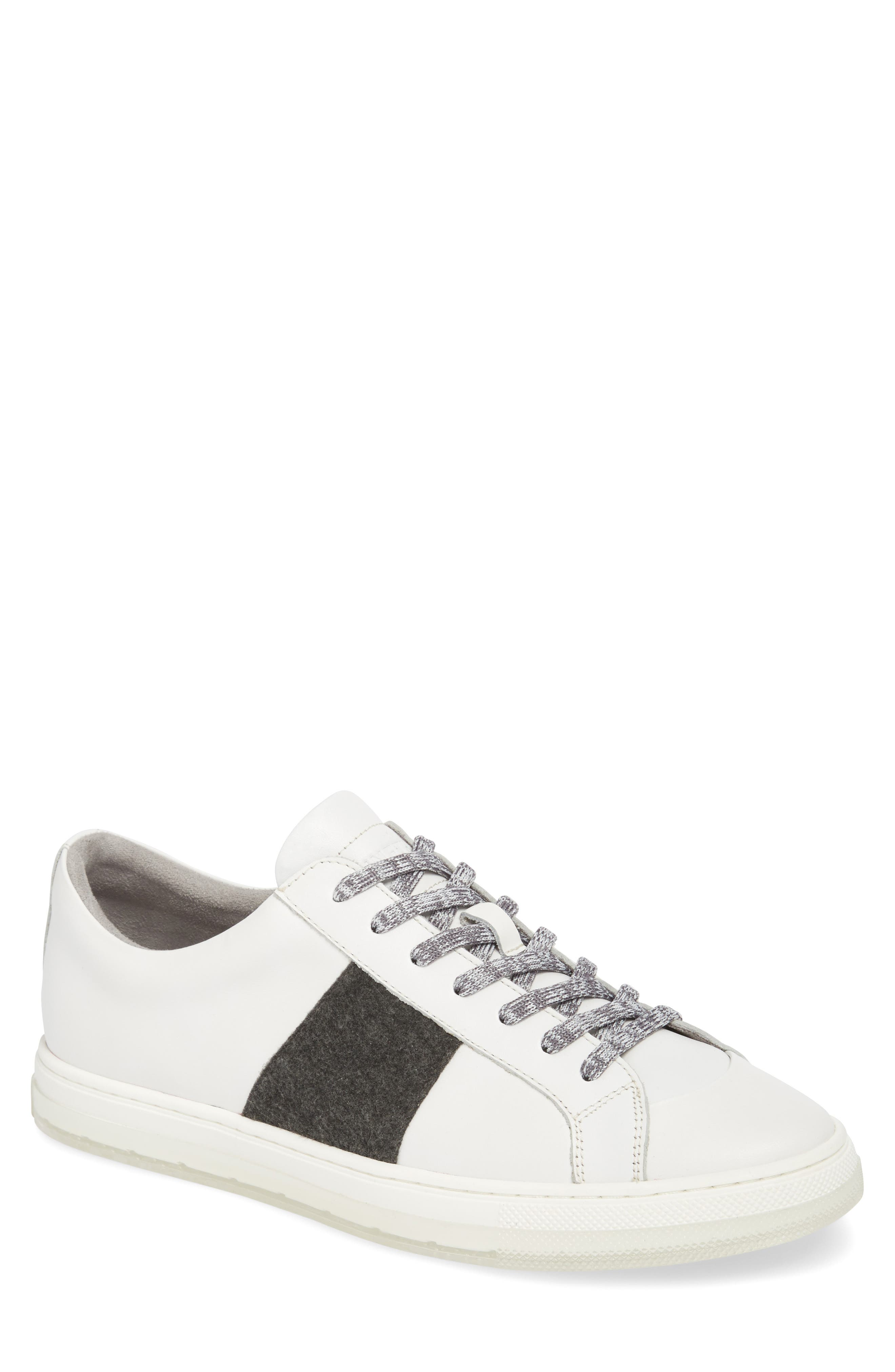 Colvin Sneaker,                             Main thumbnail 1, color,                             WHITE LEATHER