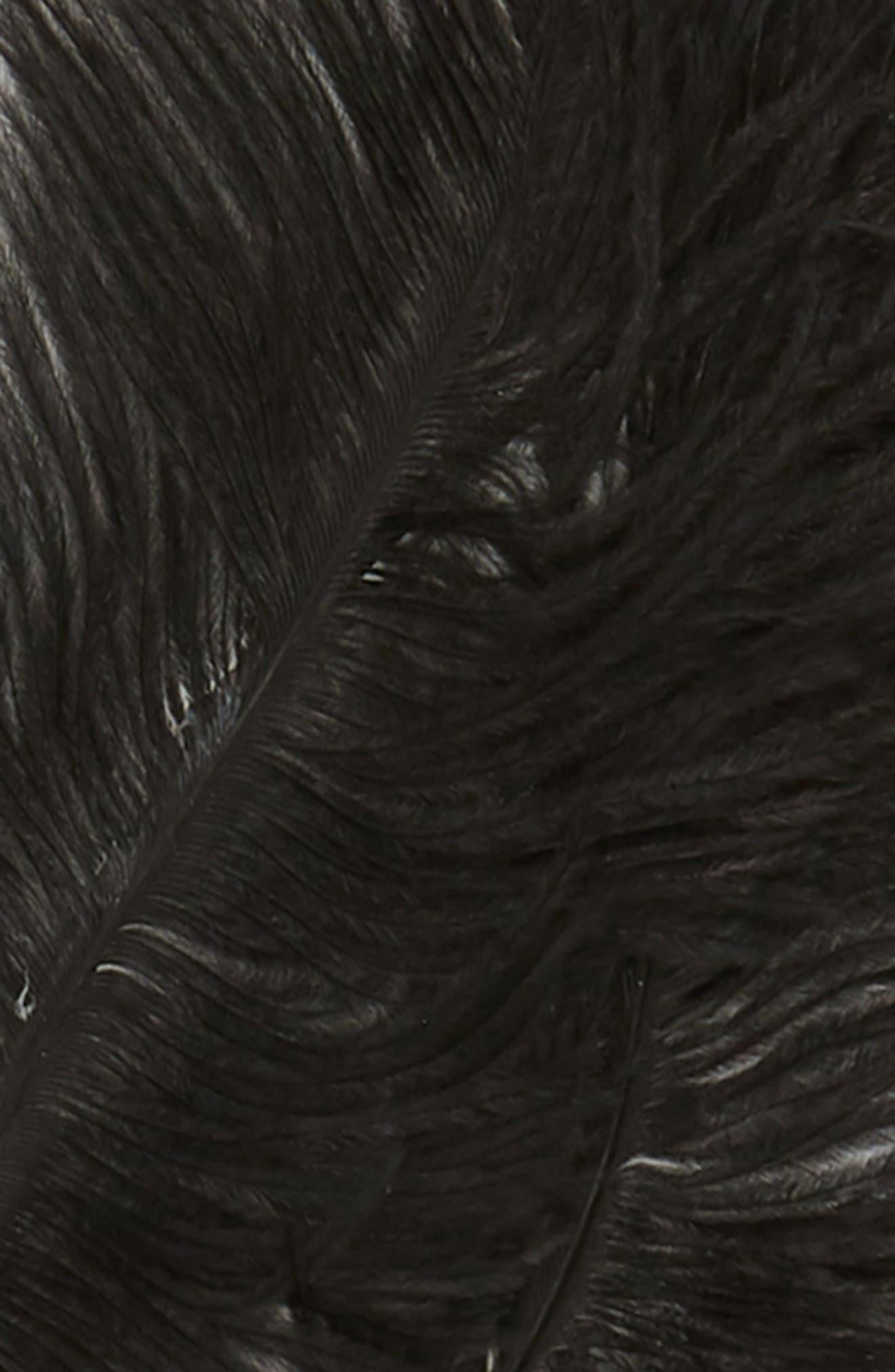 Feather Bunny Ears Headband,                             Alternate thumbnail 2, color,                             BLACK