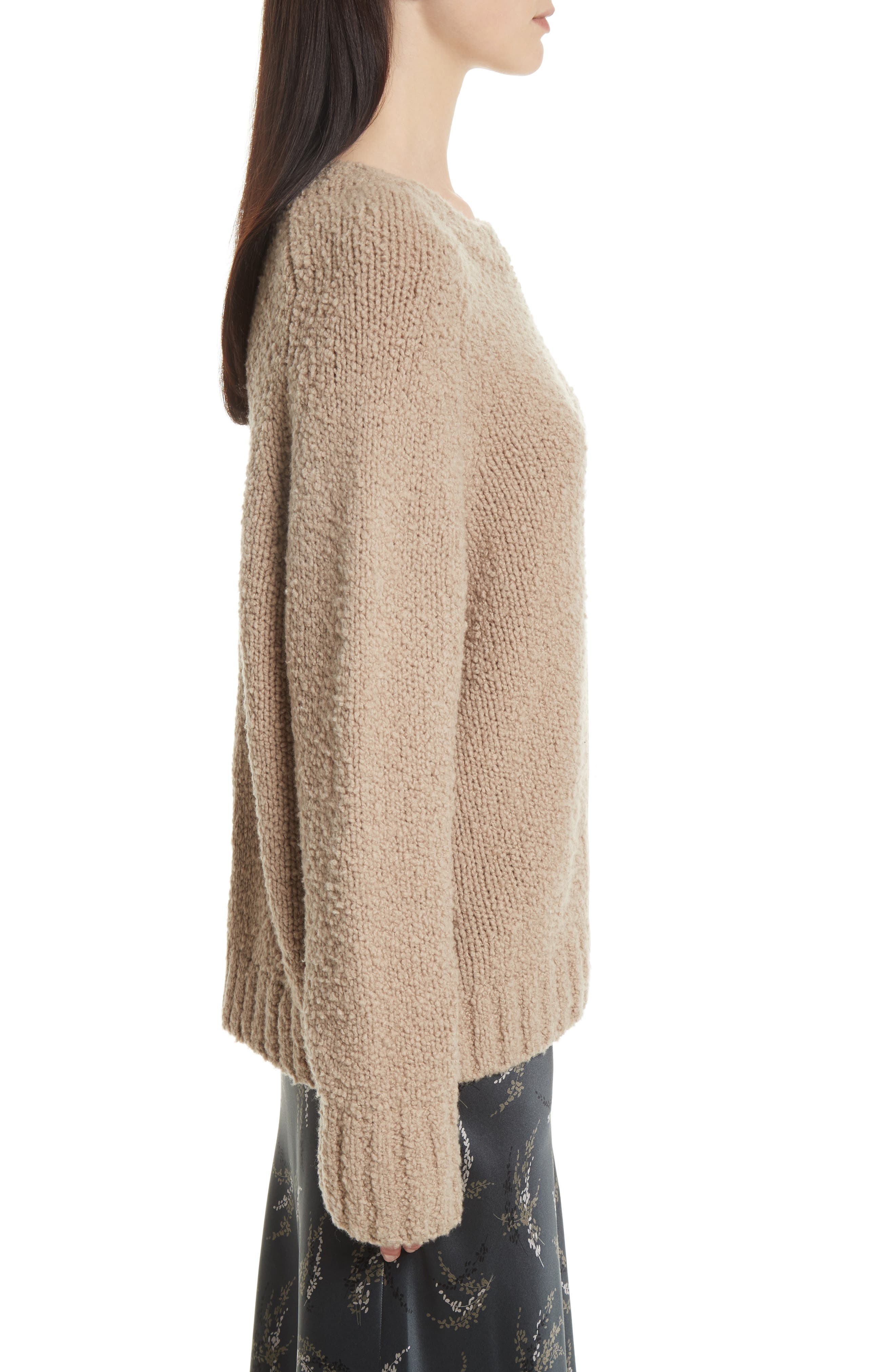 Saddle Sleeve Wool Sweater,                             Alternate thumbnail 3, color,