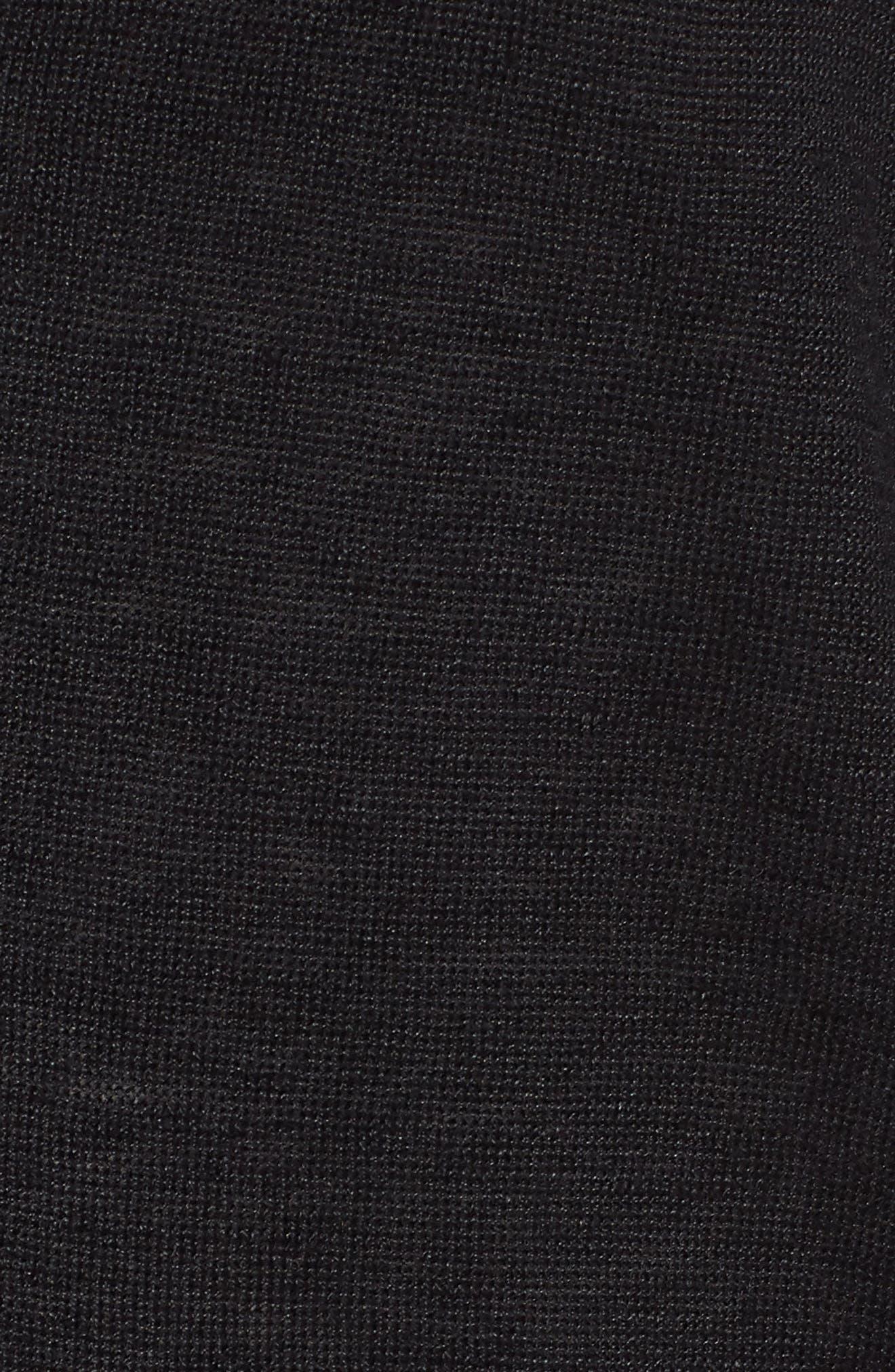 Long Organic Linen Cardigan,                             Alternate thumbnail 6, color,                             001