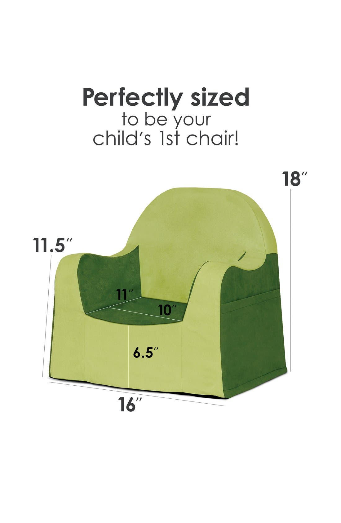 'Personalized Little Reader' Chair,                             Alternate thumbnail 4, color,                             GREEN