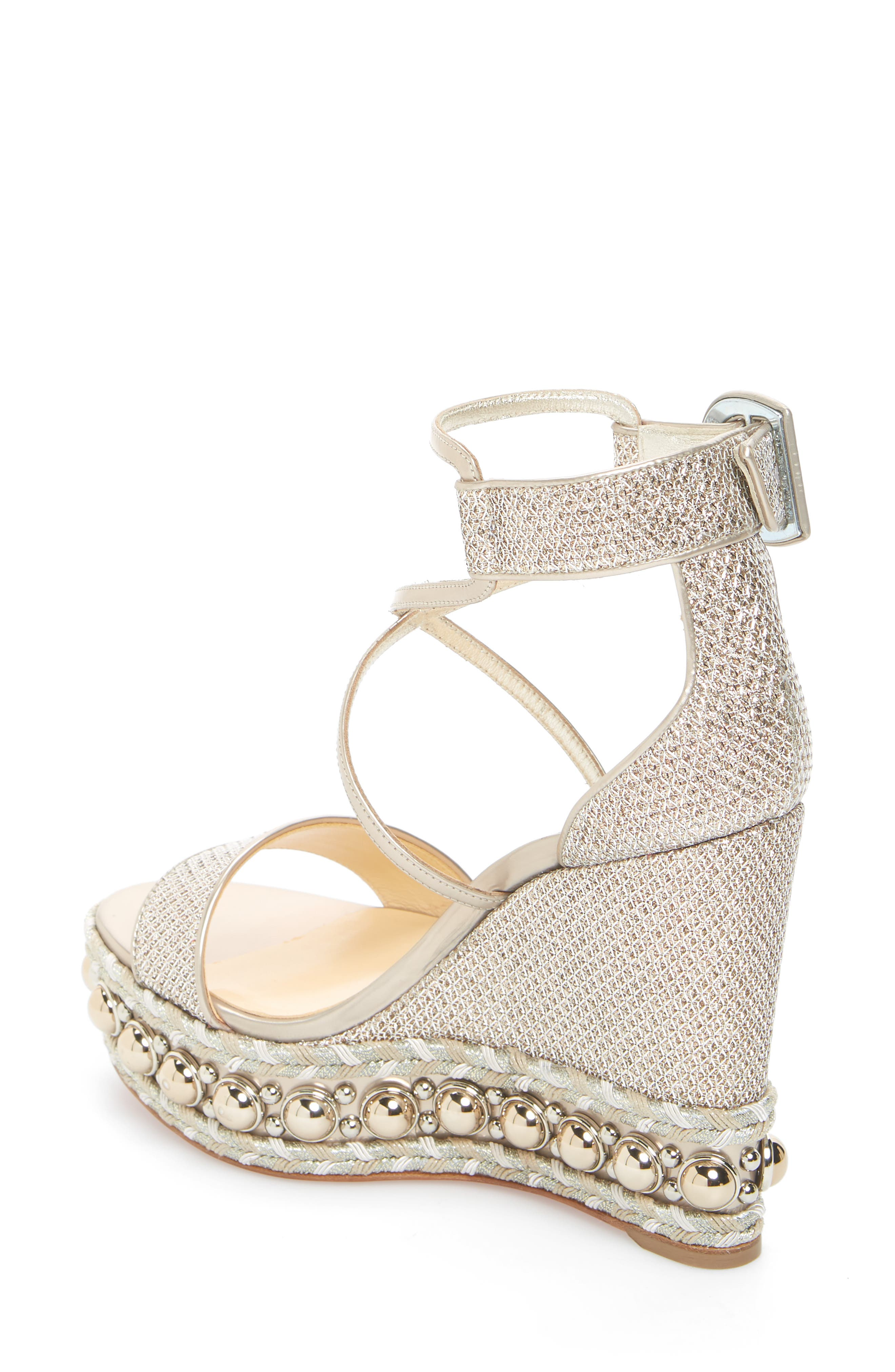Chocazeppa Studded Wedge,                             Alternate thumbnail 2, color,                             COLOMBE