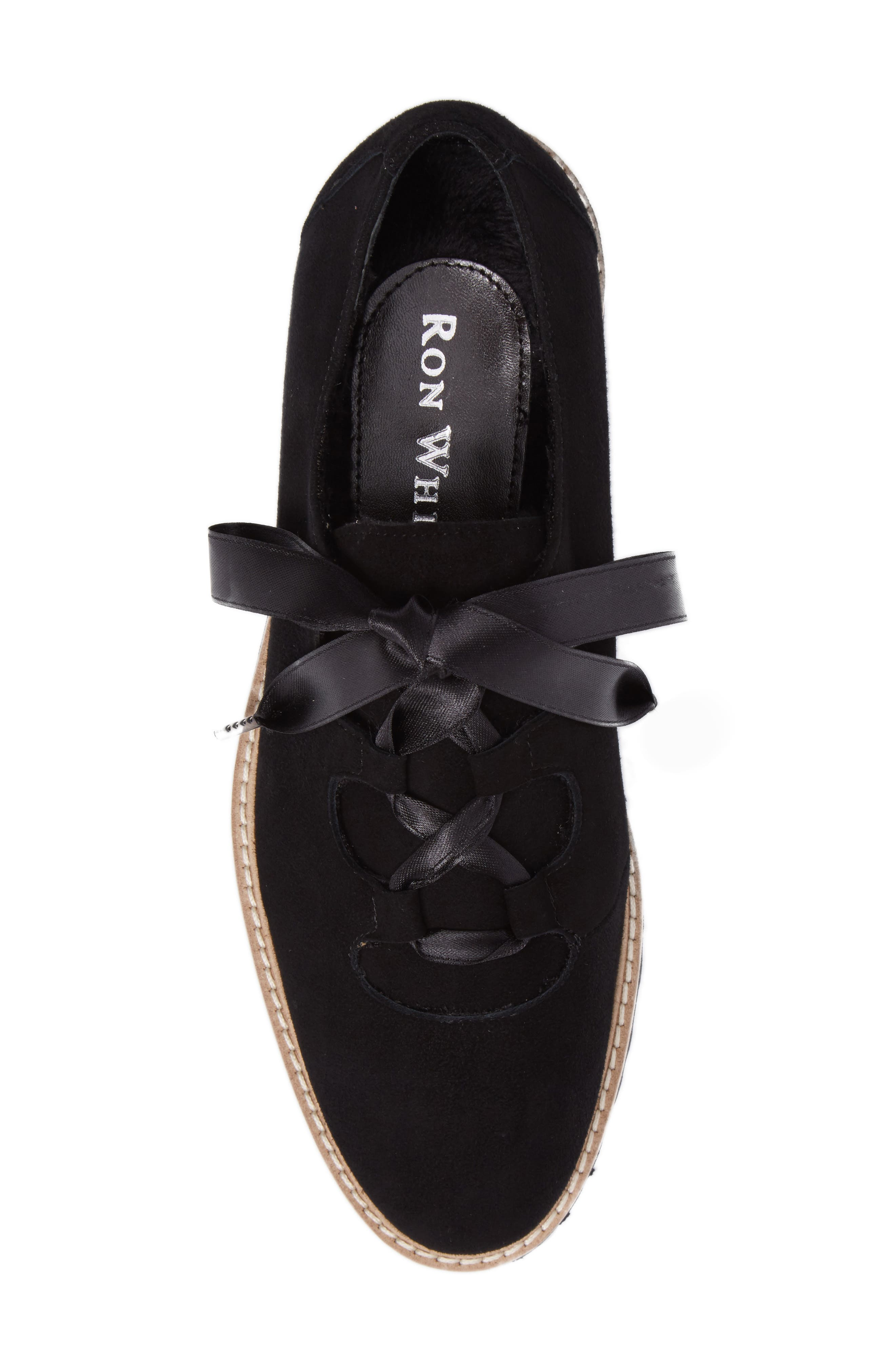 Daisy Water Resistant Oxford,                             Alternate thumbnail 5, color,                             ONYX SUEDE
