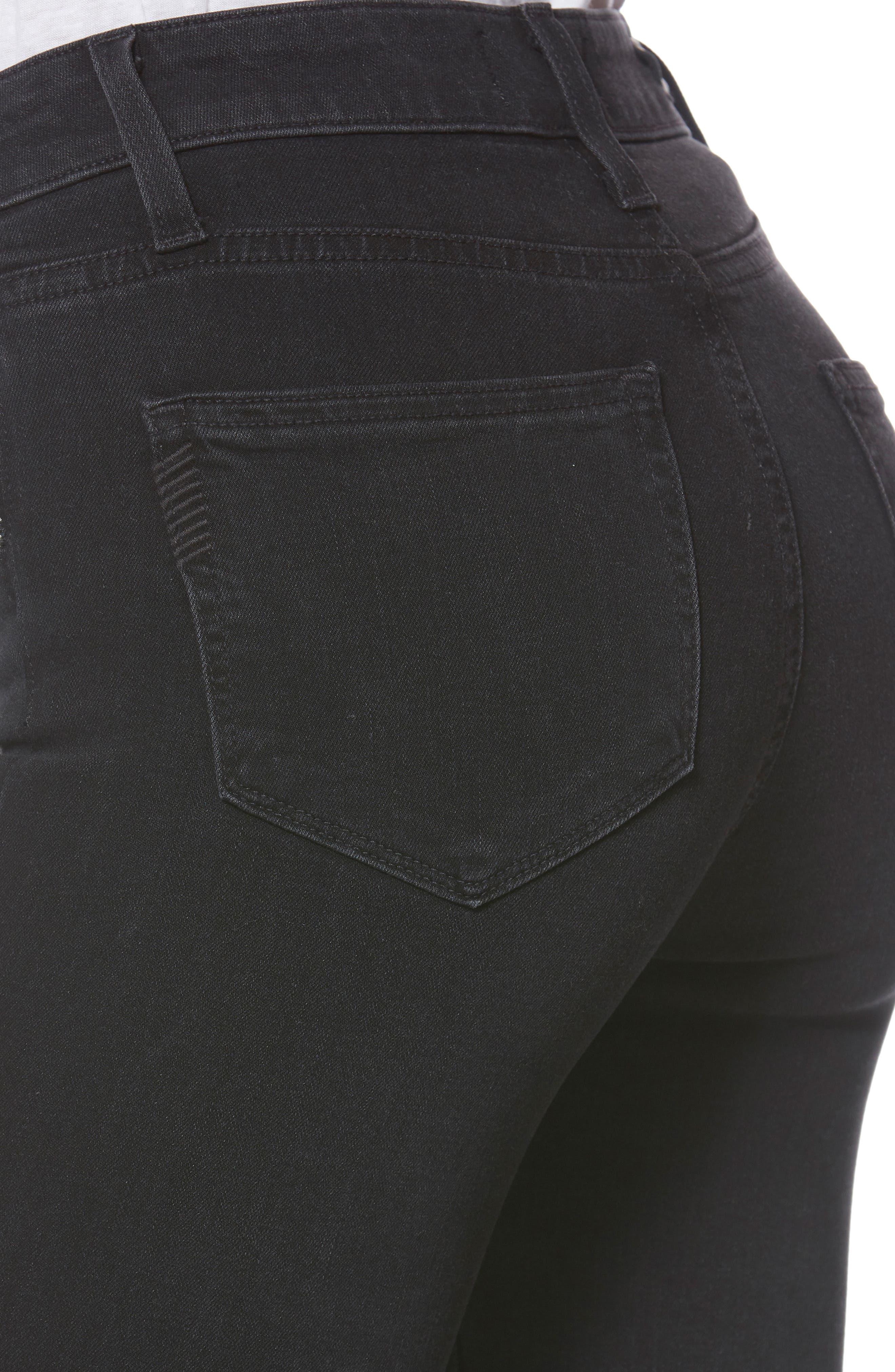 Transcend - Roxxi Zipper Teeth Jeans,                             Alternate thumbnail 4, color,                             001