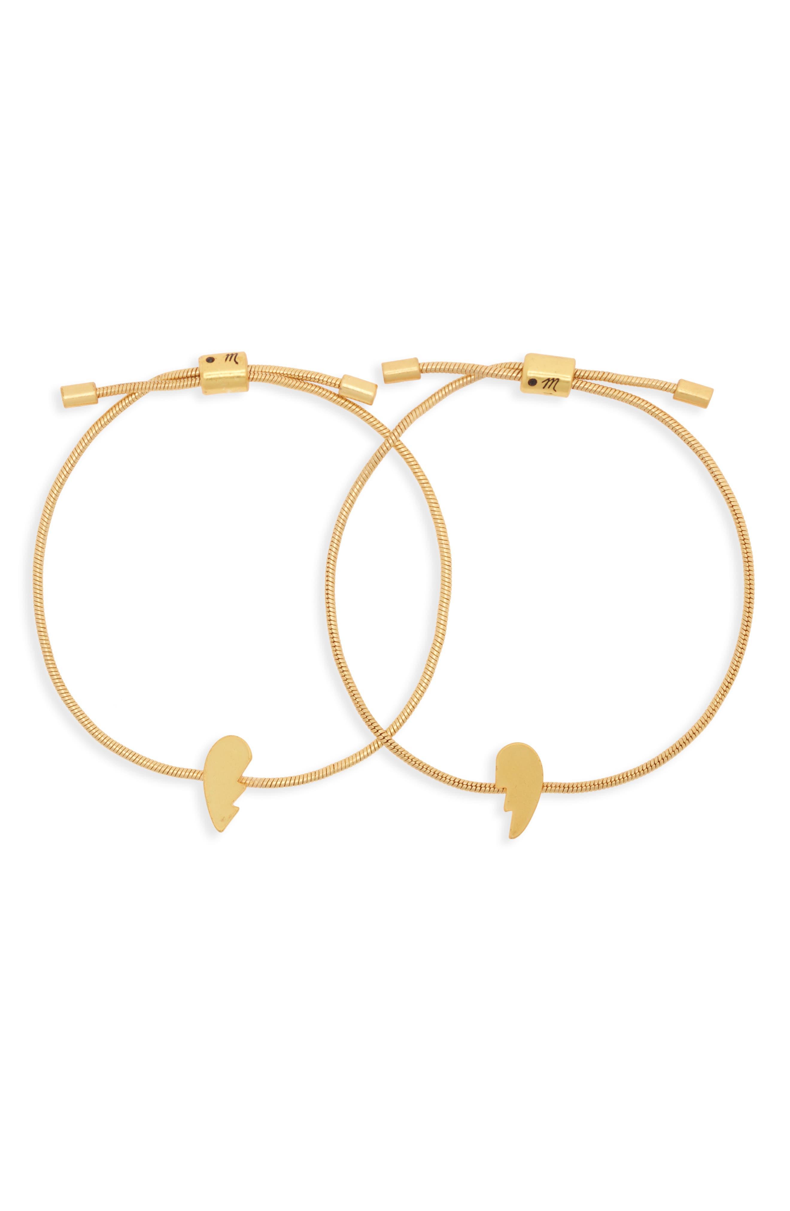 Set of 2 Friendship Bracelets,                         Main,                         color, BROKEN HEART SET