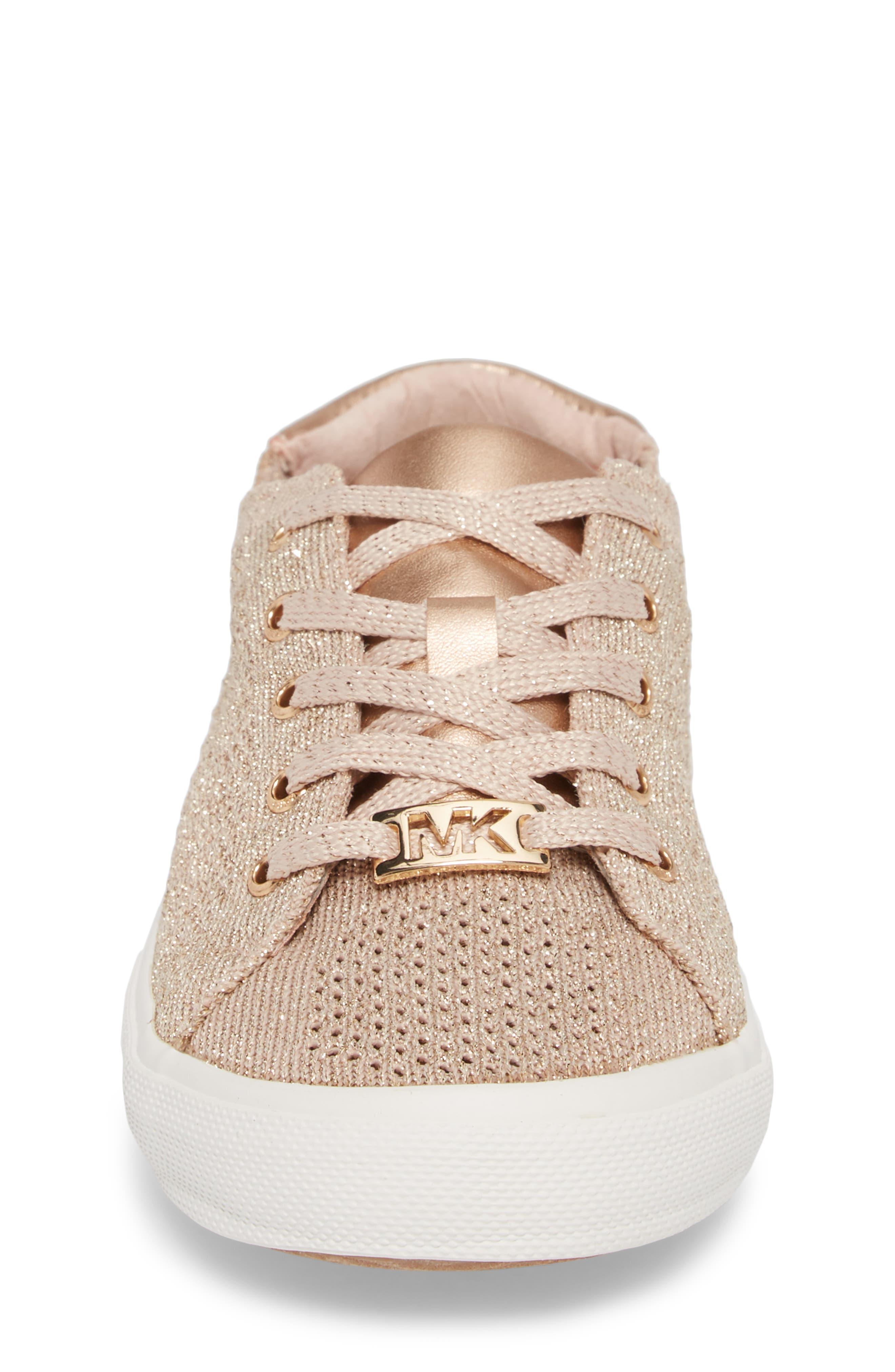 Ima Metallic Knit Sneaker,                             Alternate thumbnail 4, color,                             BLUSH SHIMMER