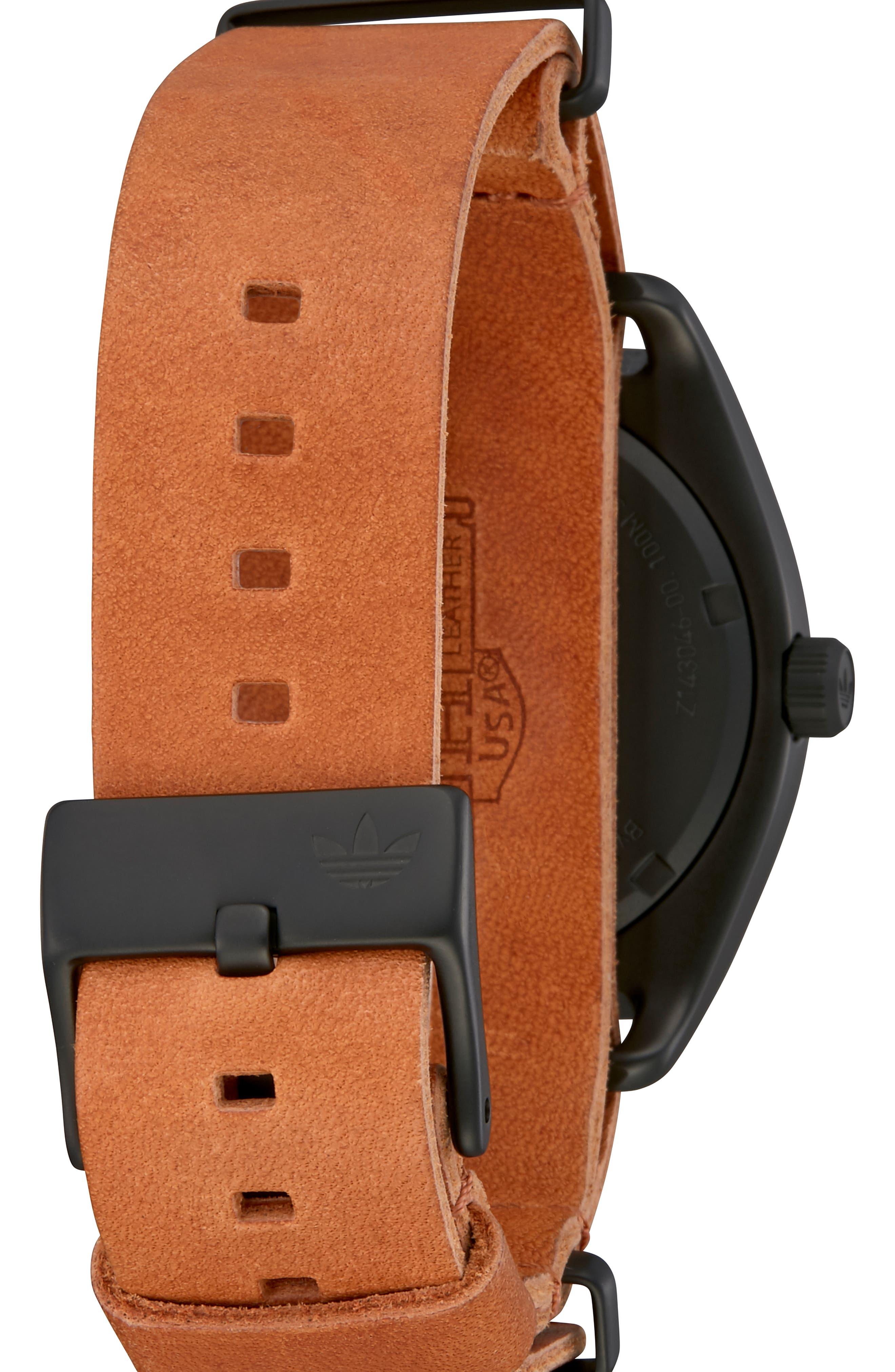 Process Interchangeable Strap Watch, 40mm,                             Alternate thumbnail 8, color,                             BLACK/ TAN