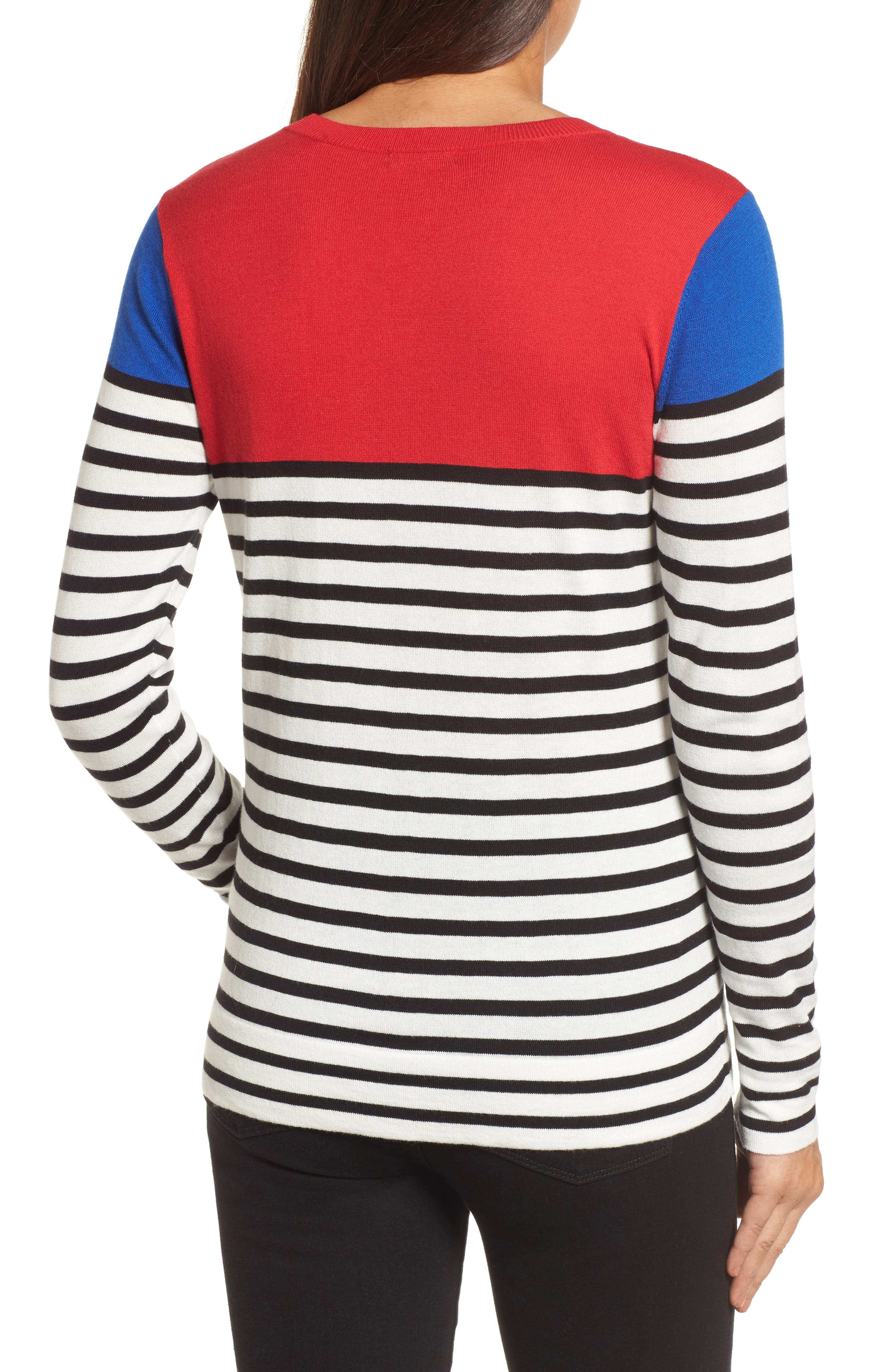 Colorblock Stripe Sweater,                             Alternate thumbnail 6, color,