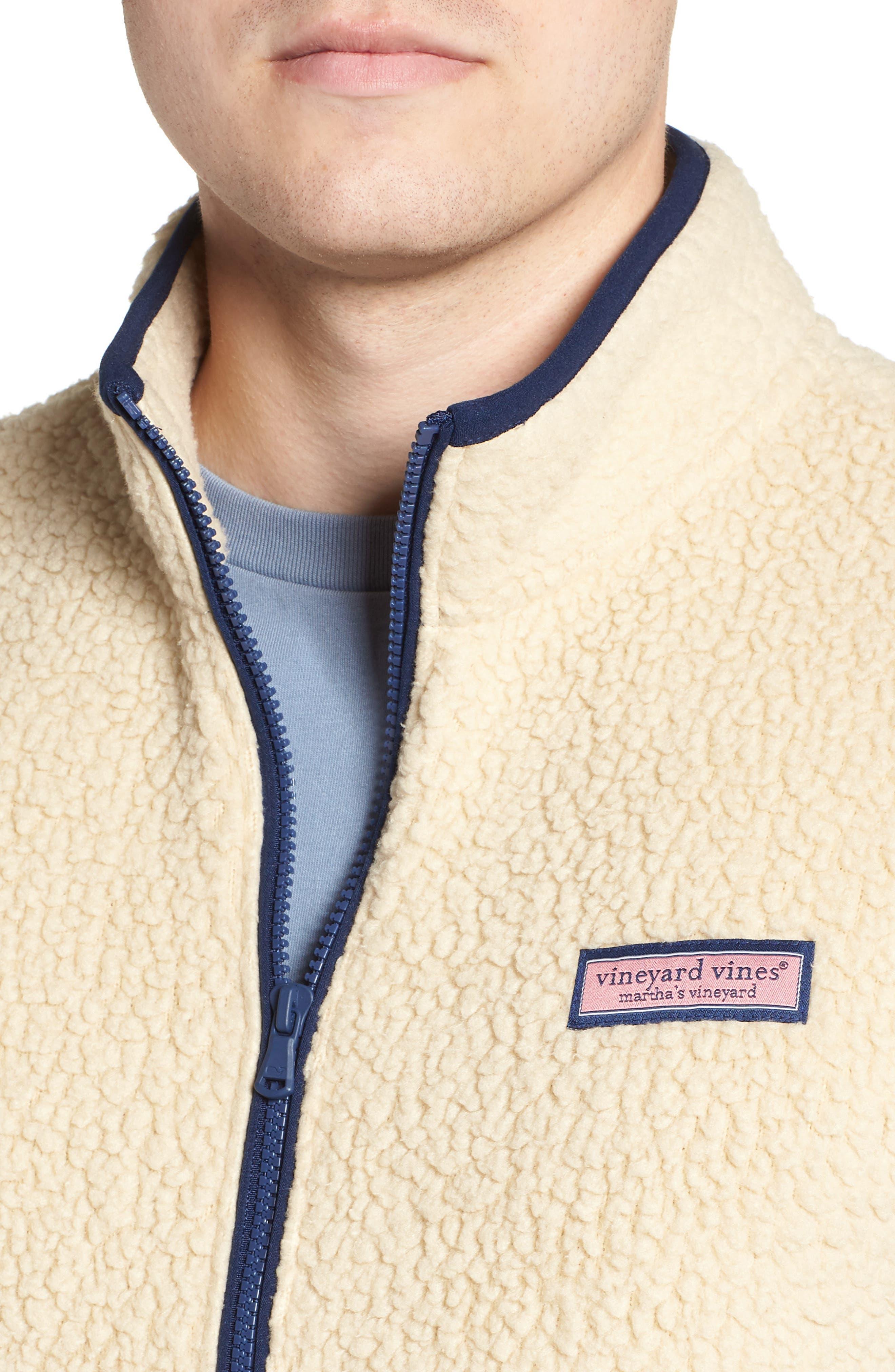 Harbor Regular Fit Fleece Vest,                             Alternate thumbnail 4, color,                             CAMEL