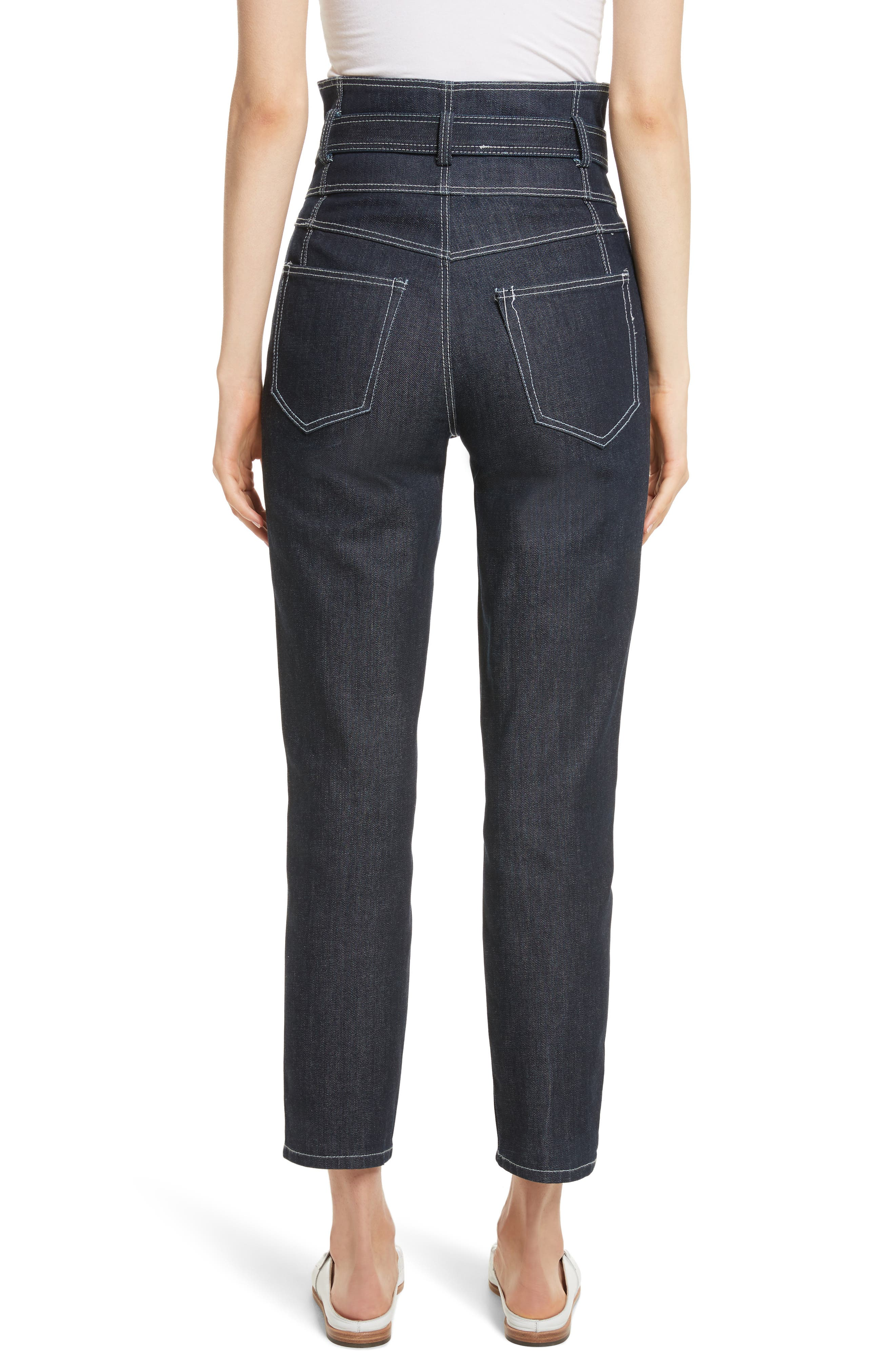 Belted Crop Jeans,                             Alternate thumbnail 2, color,