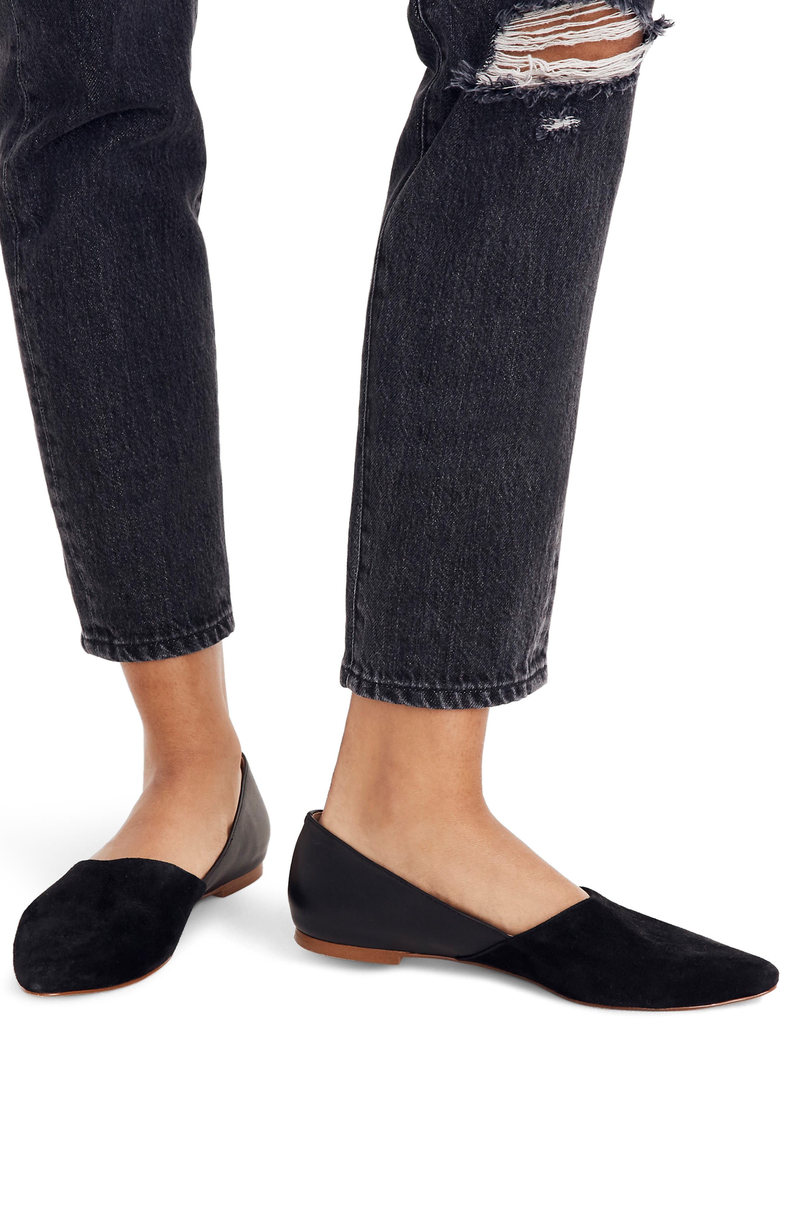 Lizbeth Pointy Toe Flat,                             Alternate thumbnail 7, color,                             001