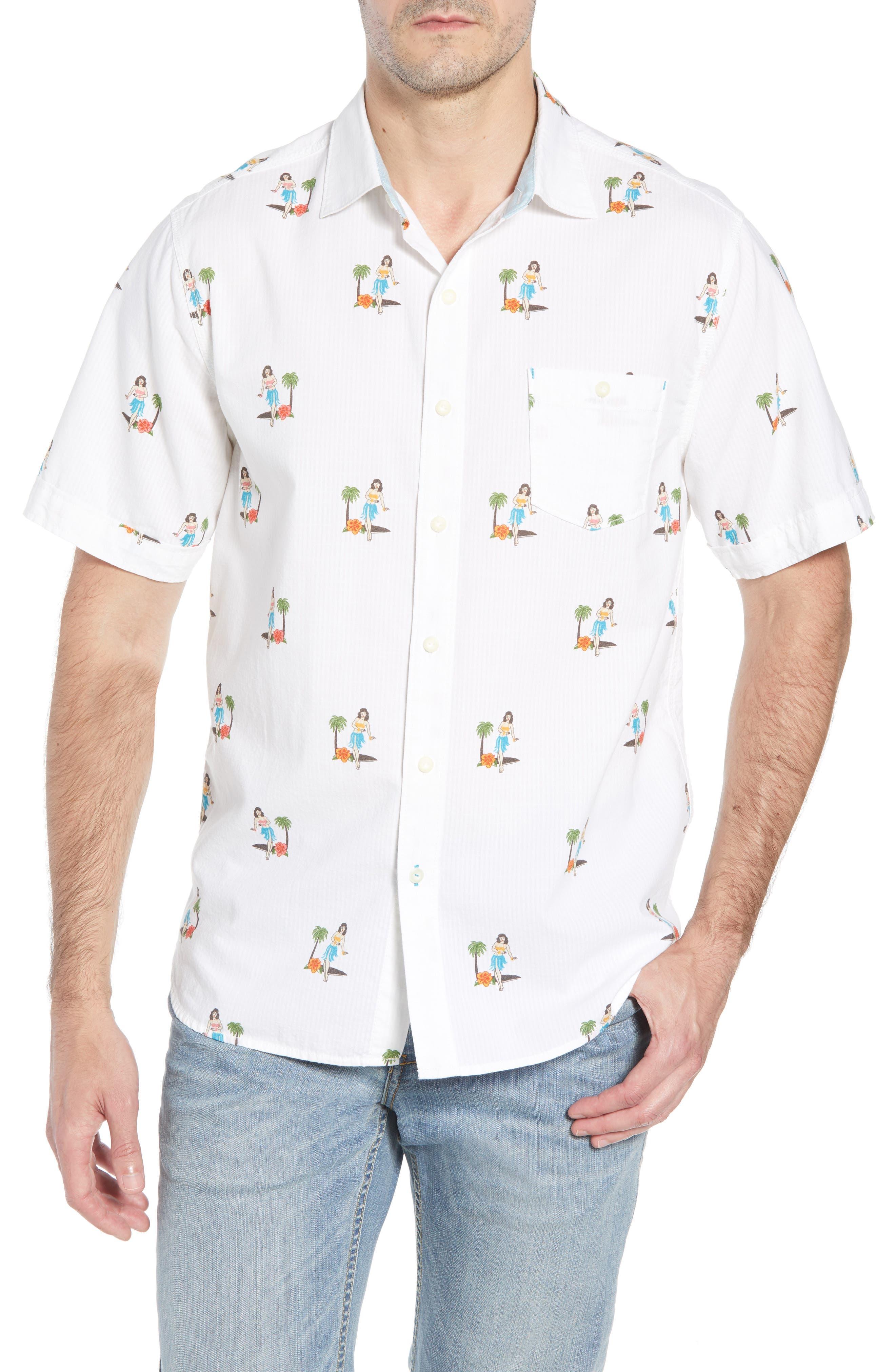 Hula Oasis Regular Fit Sport Shirt,                             Main thumbnail 1, color,                             100
