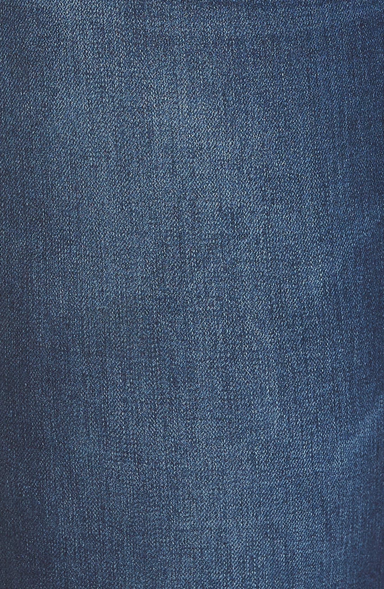 Nora Stretch Skinny Jeans,                             Alternate thumbnail 6, color,                             MED INDIGO