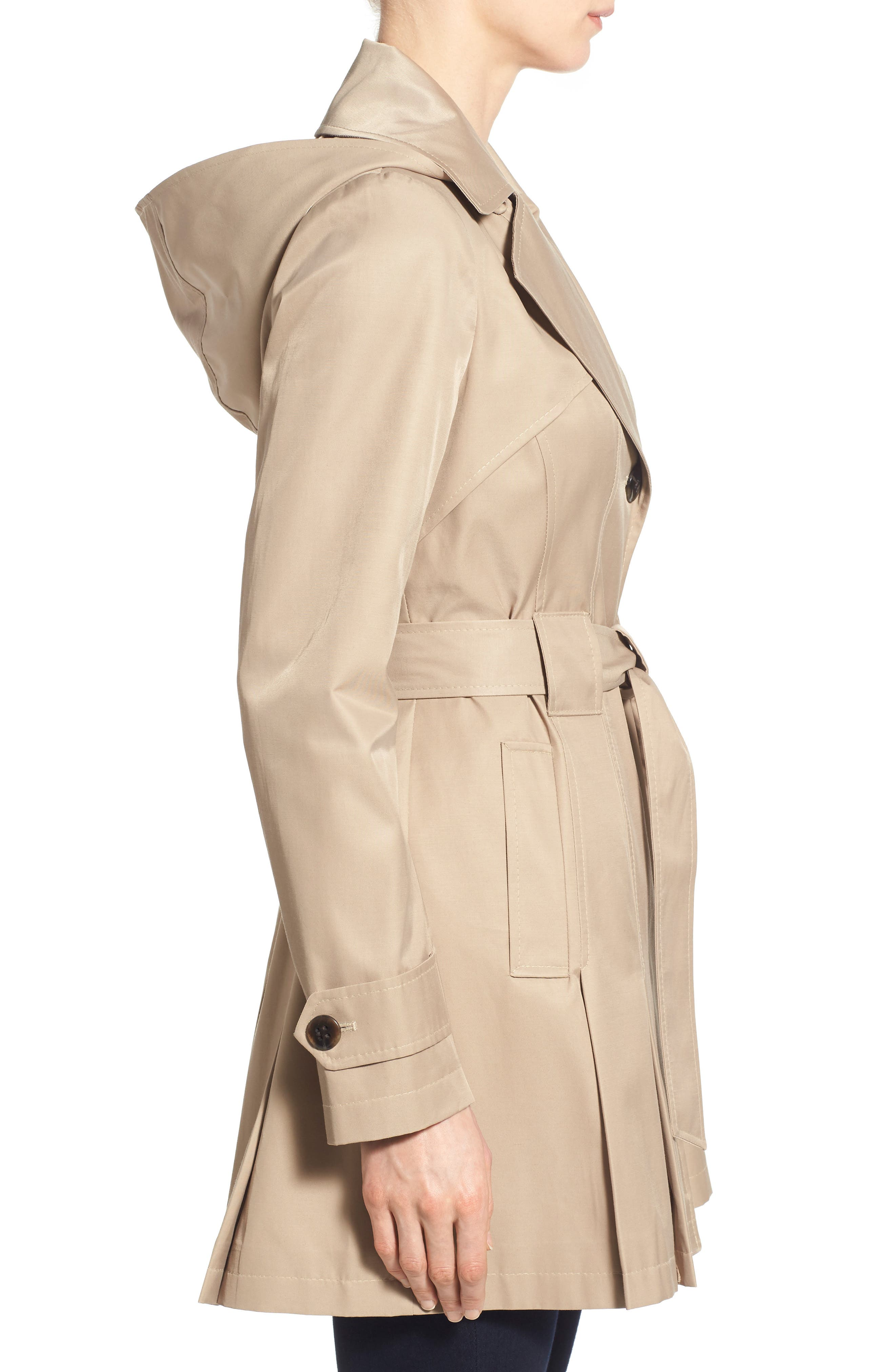 'Scarpa' Hooded Single Breasted Trench Coat,                             Alternate thumbnail 28, color,