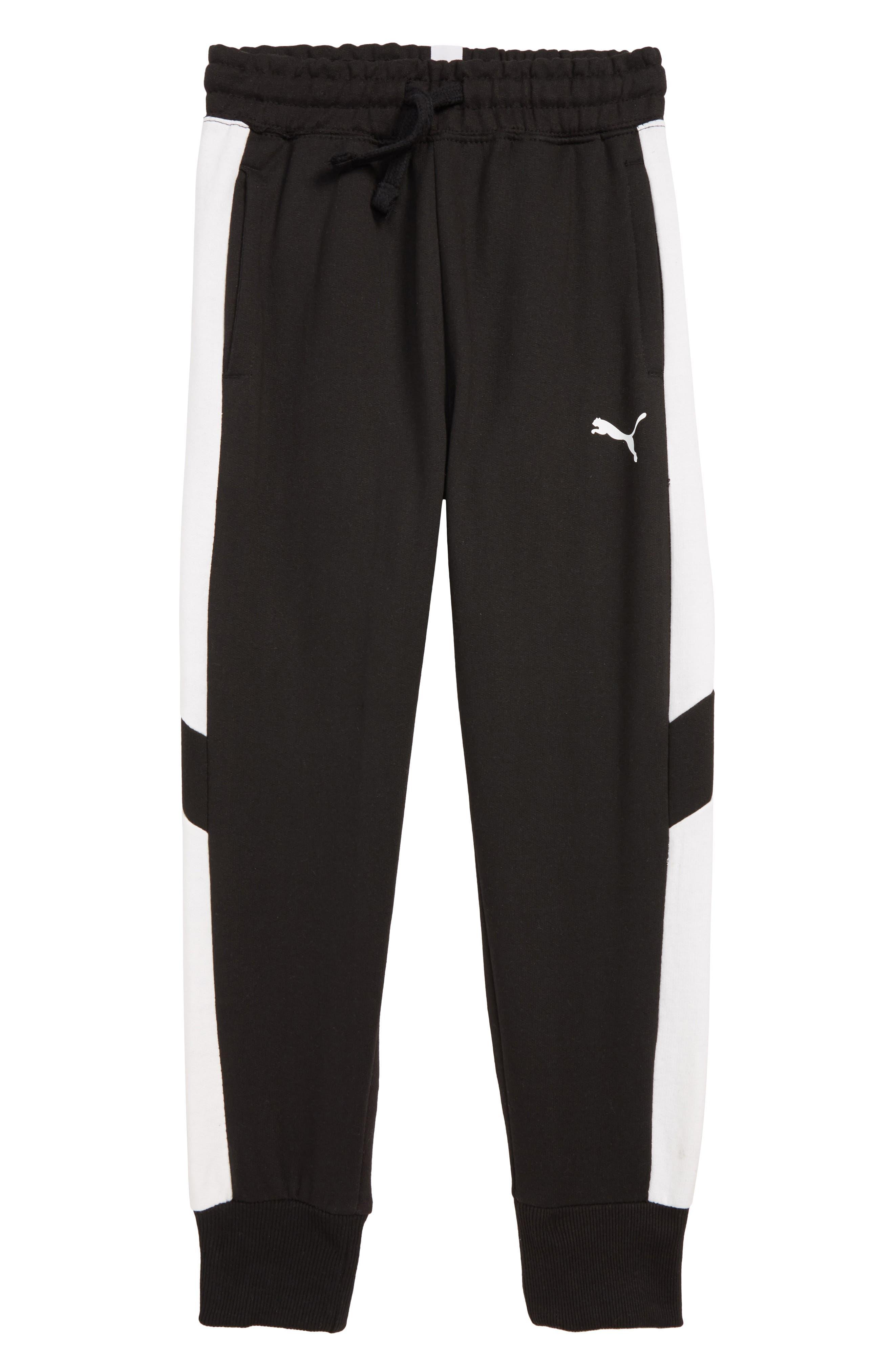Pieced Jogger Pants,                             Main thumbnail 1, color,                             PUMA BLACK