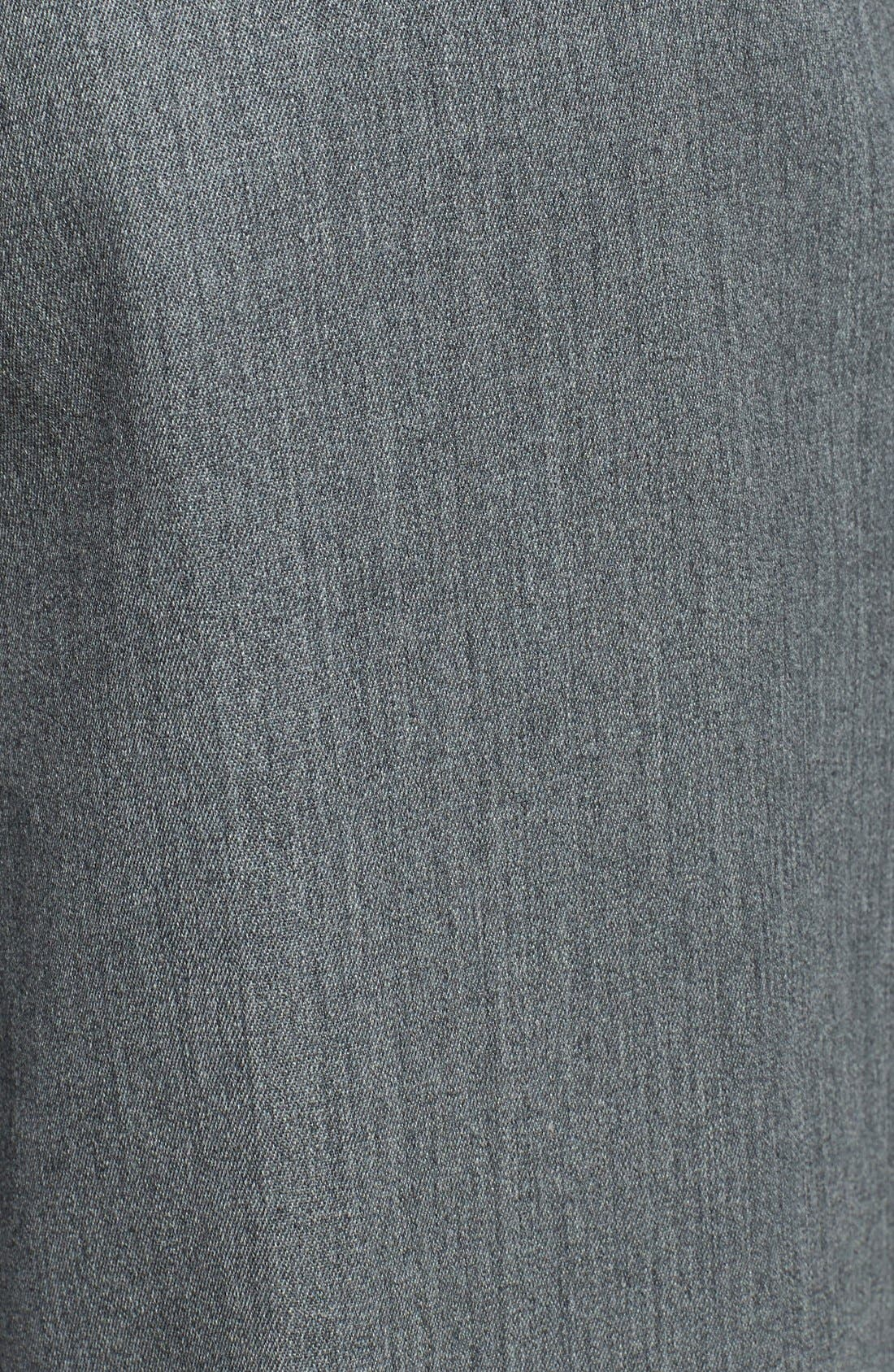 Self Sizer Waist Pleated Wool Gabardine Trousers,                             Alternate thumbnail 6, color,                             MEDIUM GREY