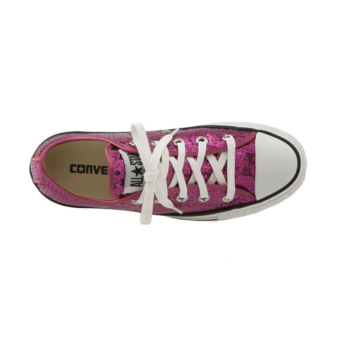 CONVERSE,                             Chuck Taylor<sup>®</sup> Sequined Sneaker,                             Alternate thumbnail 2, color,                             606