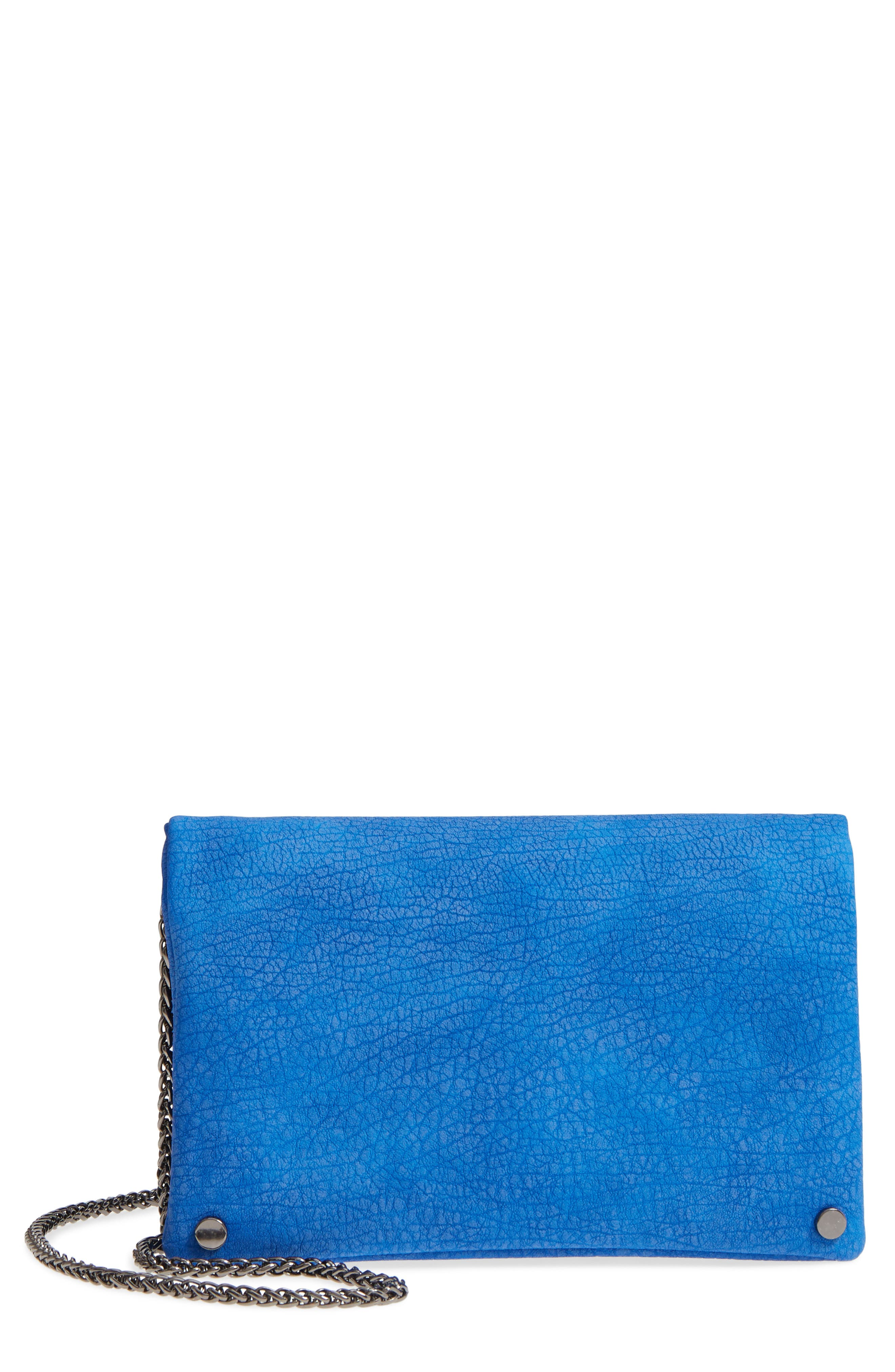 Studded Faux Leather Clutch,                             Main thumbnail 1, color,