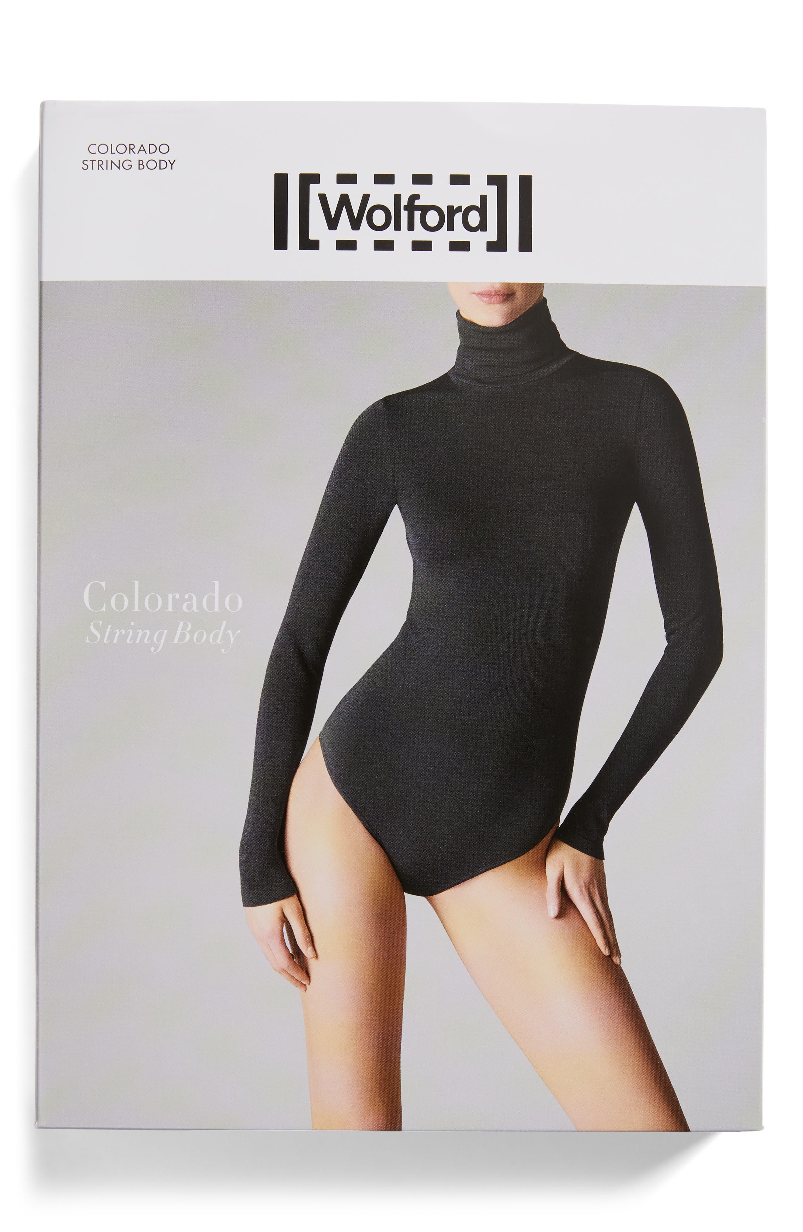 WOLFORD,                             'Colorado' Bodysuit,                             Alternate thumbnail 7, color,                             002