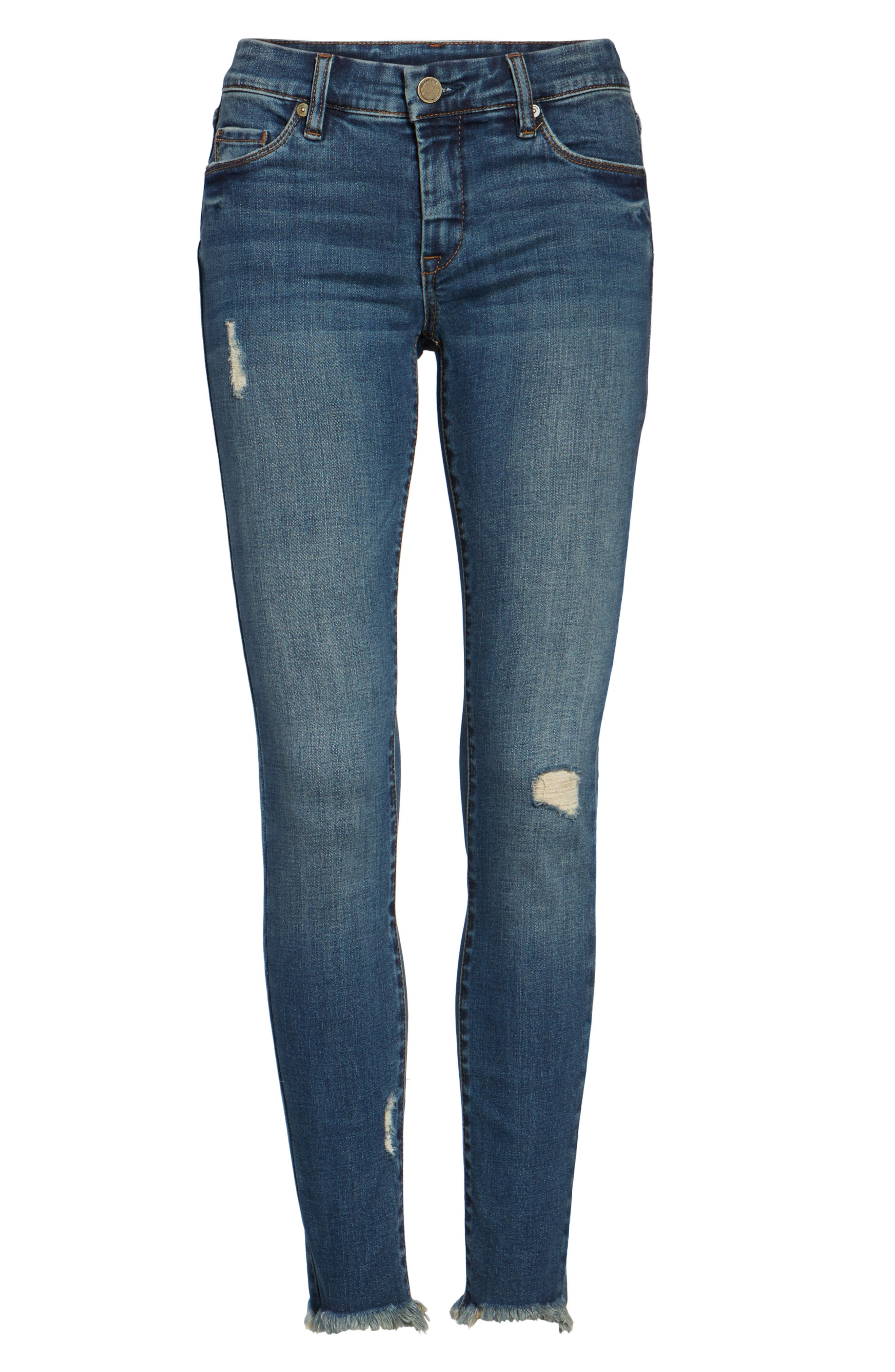 Skinny Ankle Jeans,                             Alternate thumbnail 6, color,                             400