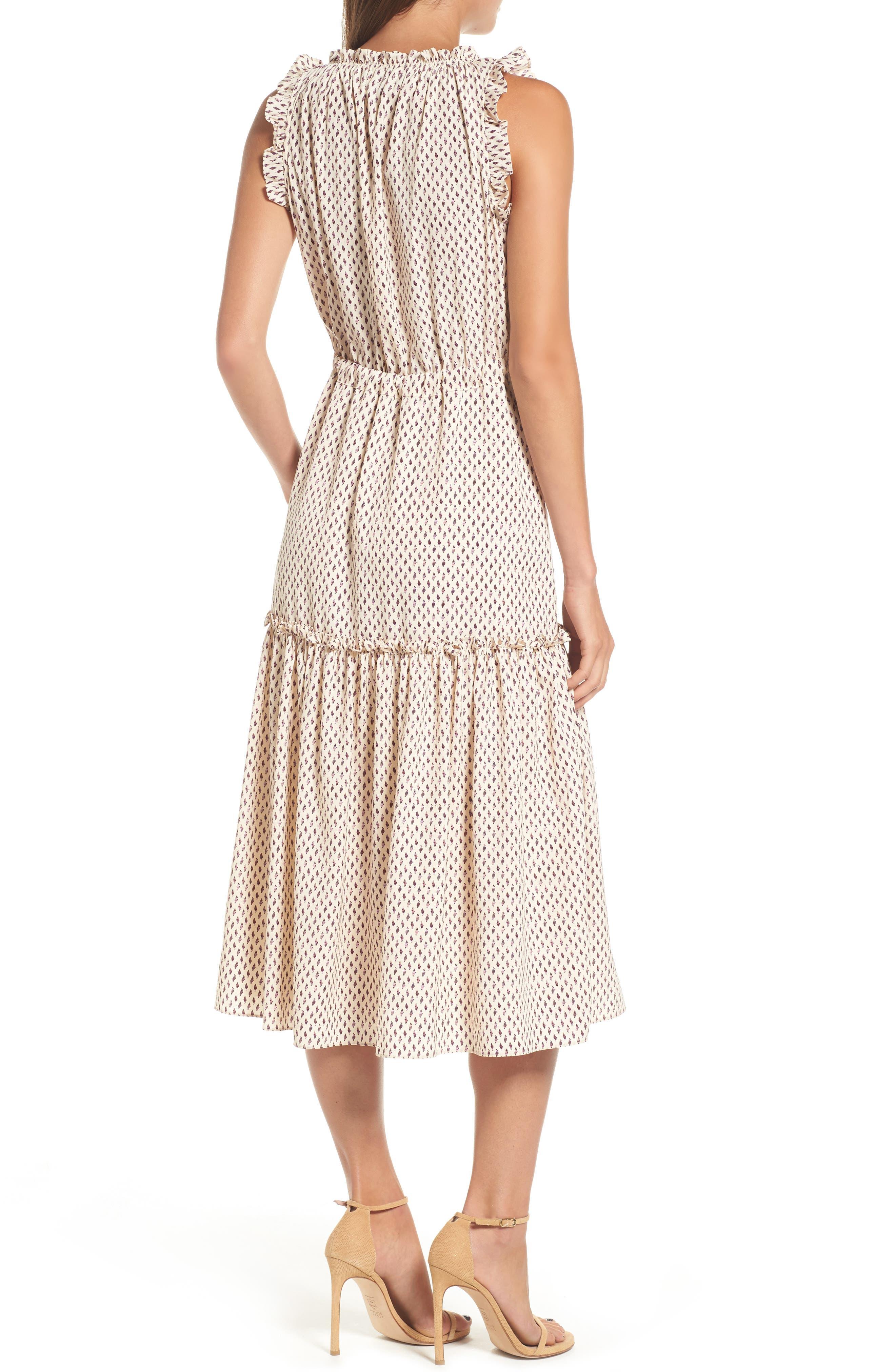Martina Midi Dress,                             Alternate thumbnail 2, color,                             901