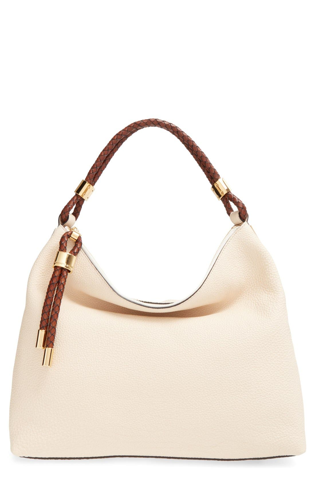 'Large Skorpios' Leather Hobo,                             Main thumbnail 1, color,                             100