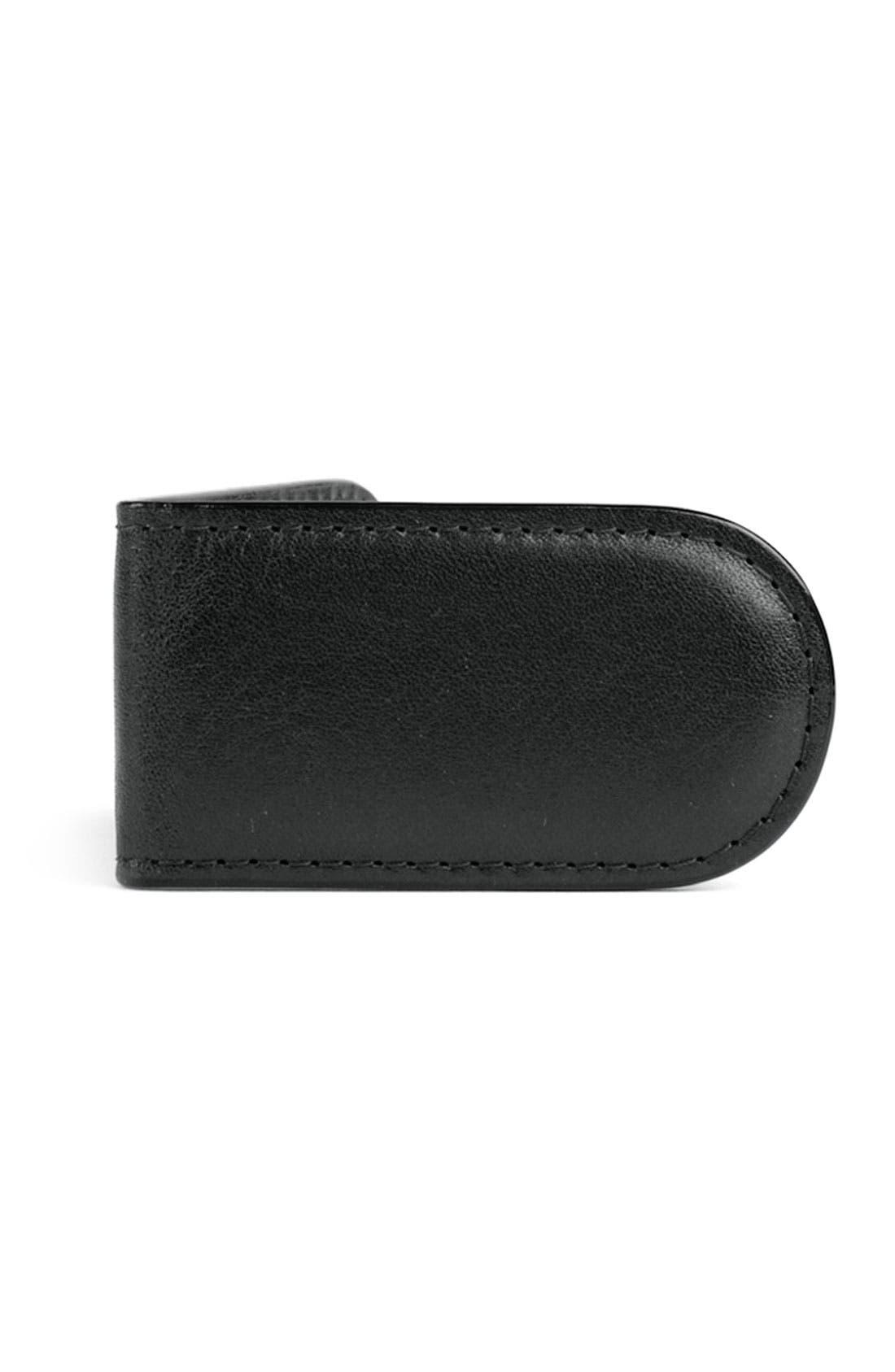Leather Money Clip,                             Main thumbnail 2, color,