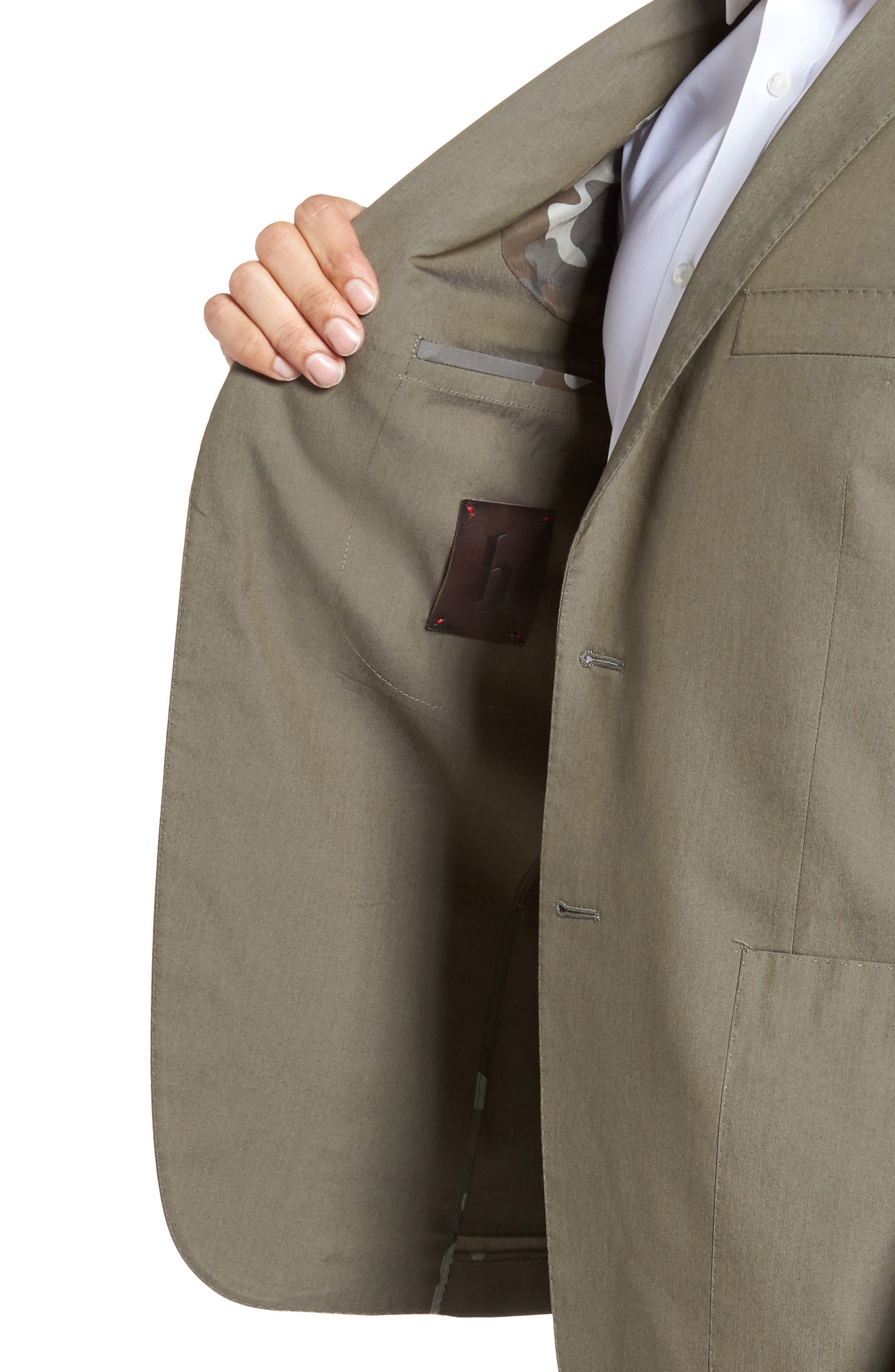 Modern Fit Stretch Cotton Blend Blazer,                             Alternate thumbnail 4, color,                             300