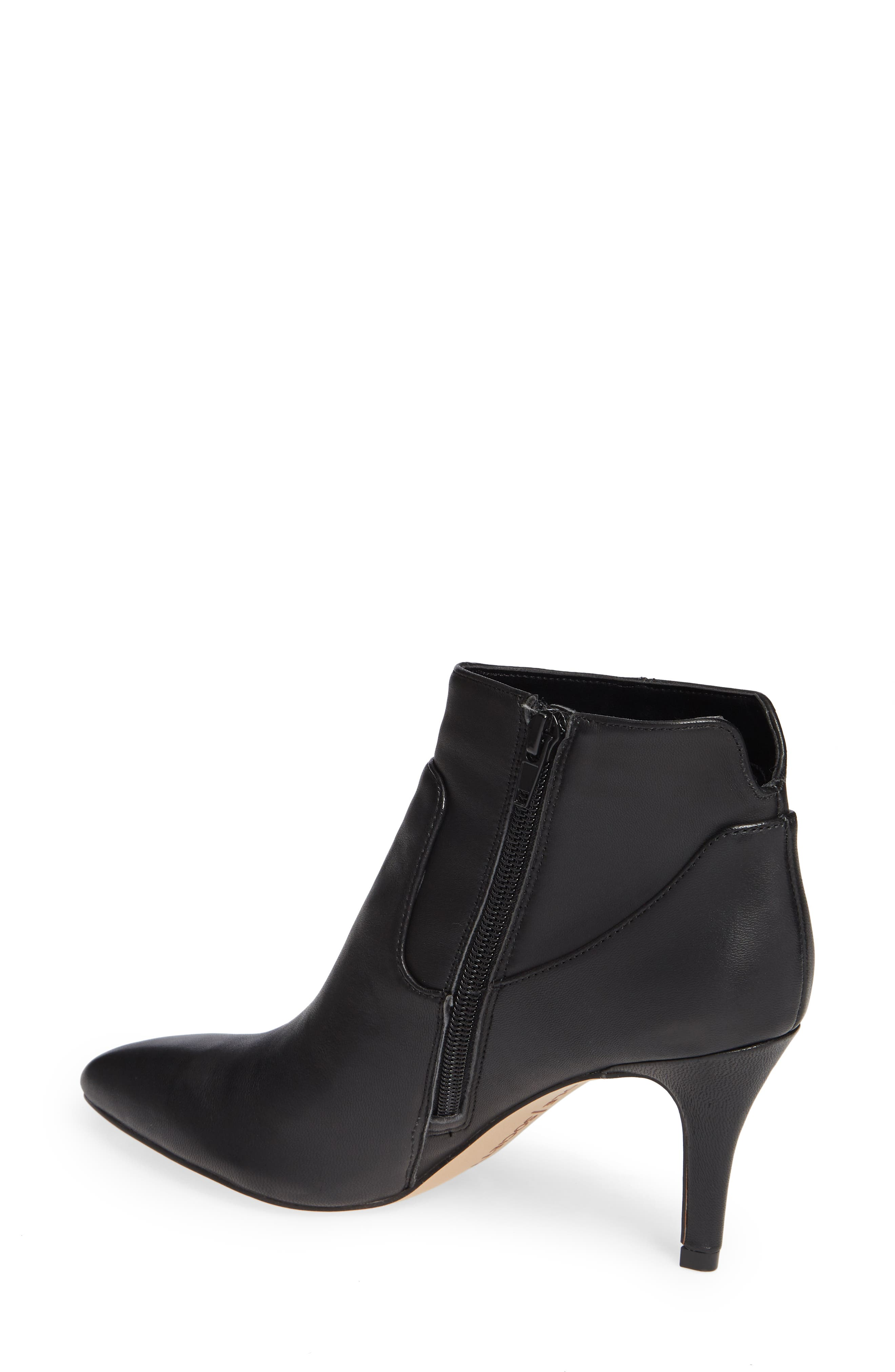 Raphaela Bootie,                             Alternate thumbnail 2, color,                             BLACK LEATHER