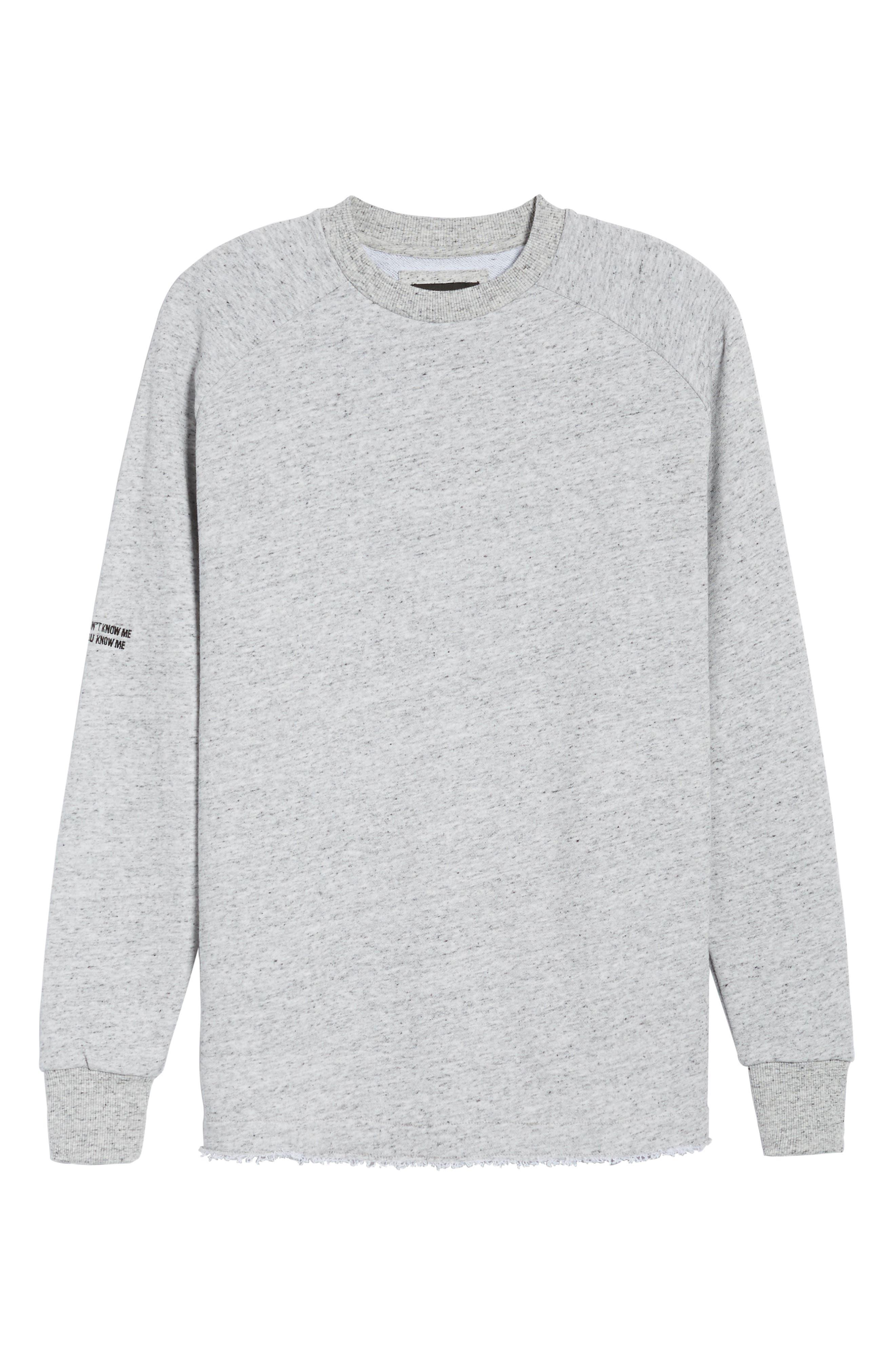Torn Crew Sweatshirt,                             Alternate thumbnail 6, color,                             059