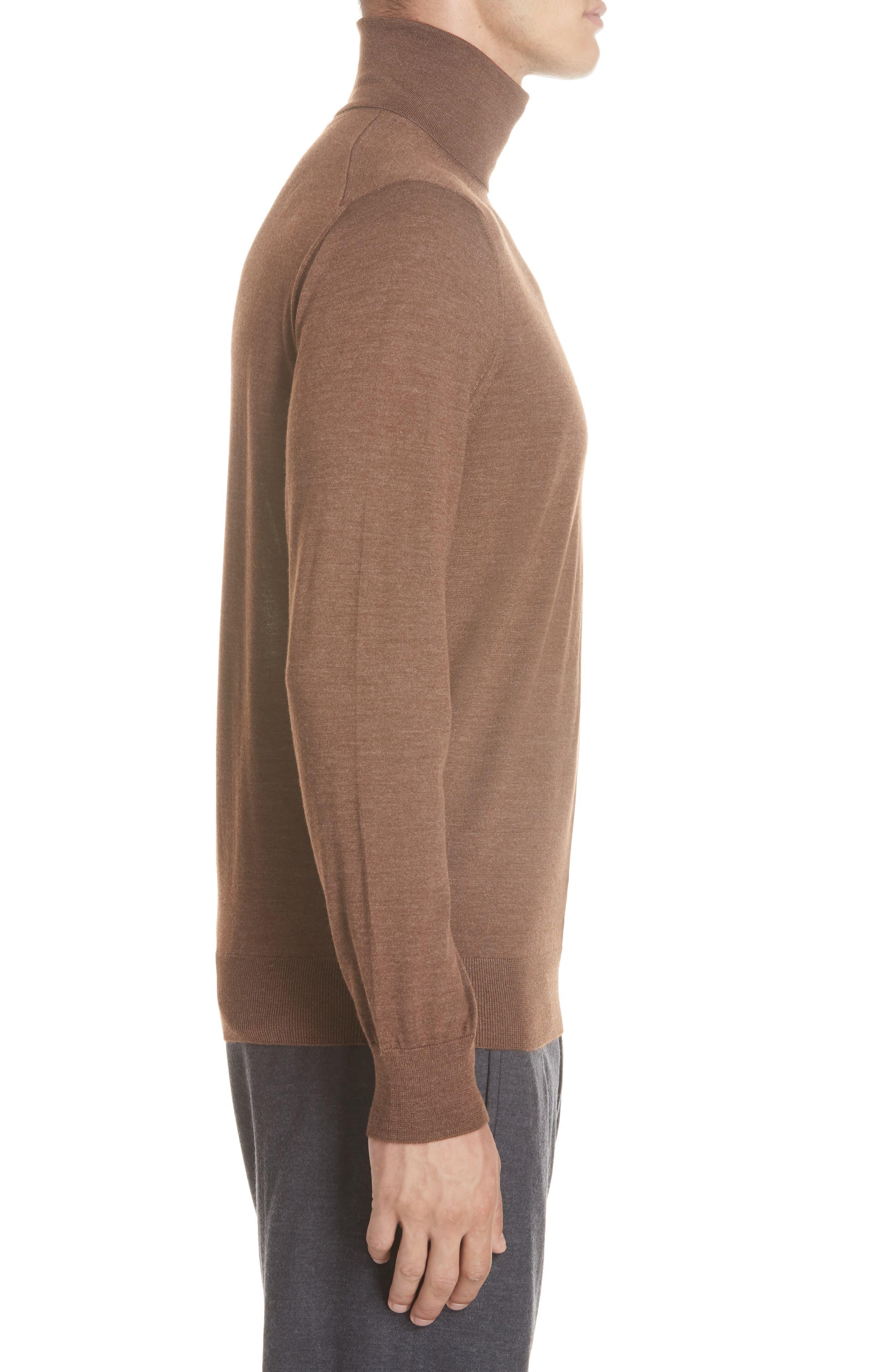 Cashmere & Silk Turtleneck Sweater,                             Alternate thumbnail 3, color,                             252