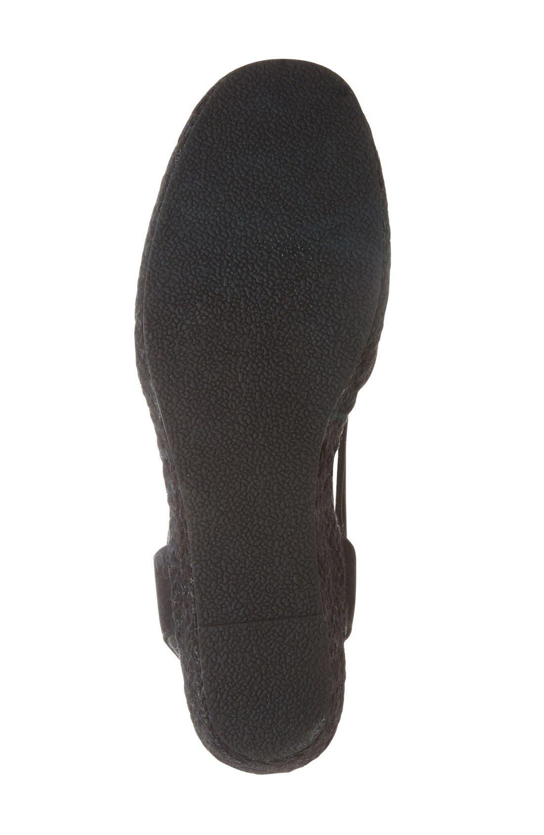'Nelly' Slingback Wedge Sandal,                             Alternate thumbnail 2, color,                             BLACK NUBUCK