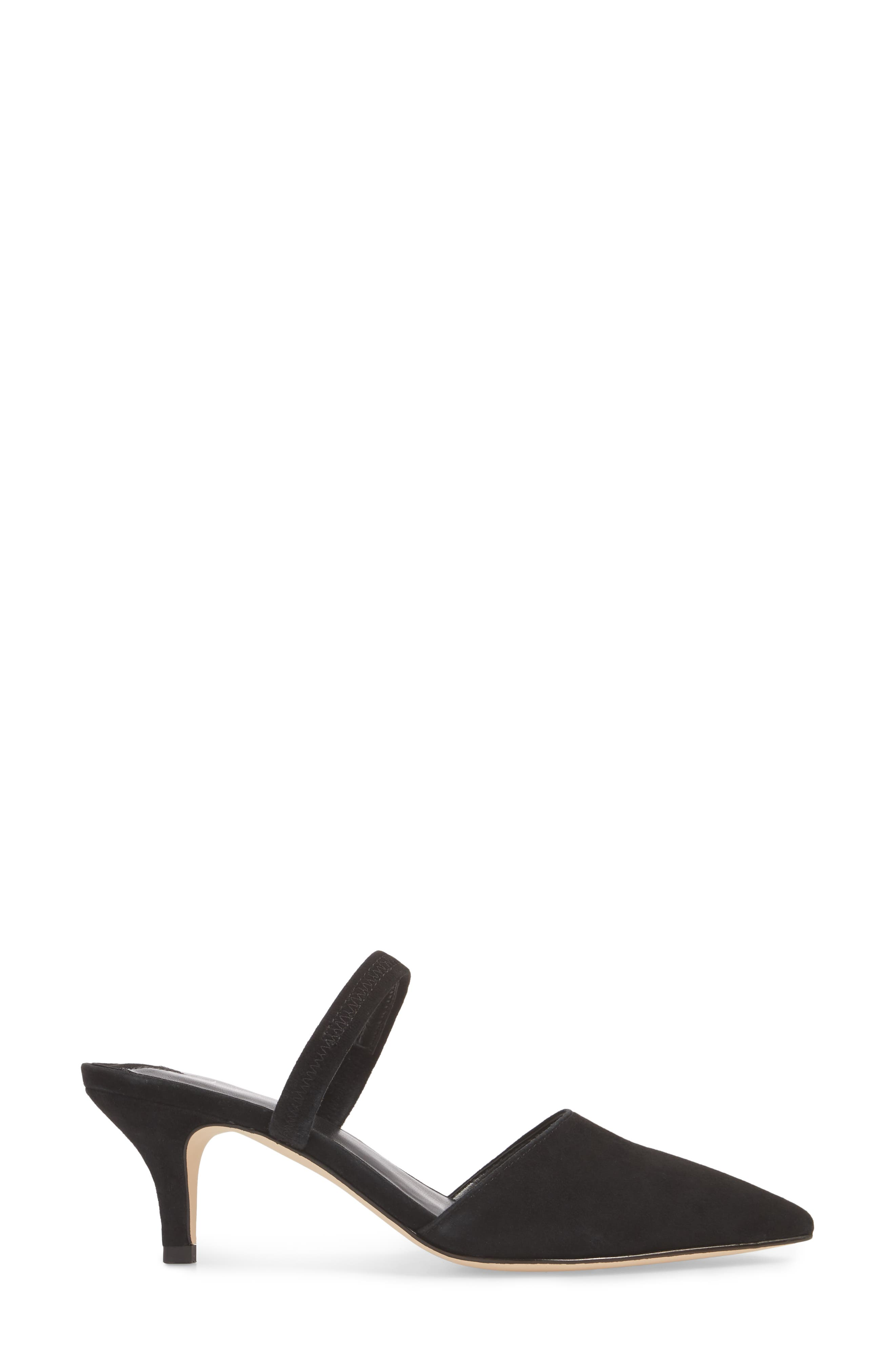 Nikki Convertible Pump,                             Alternate thumbnail 3, color,                             BLACK SUEDE