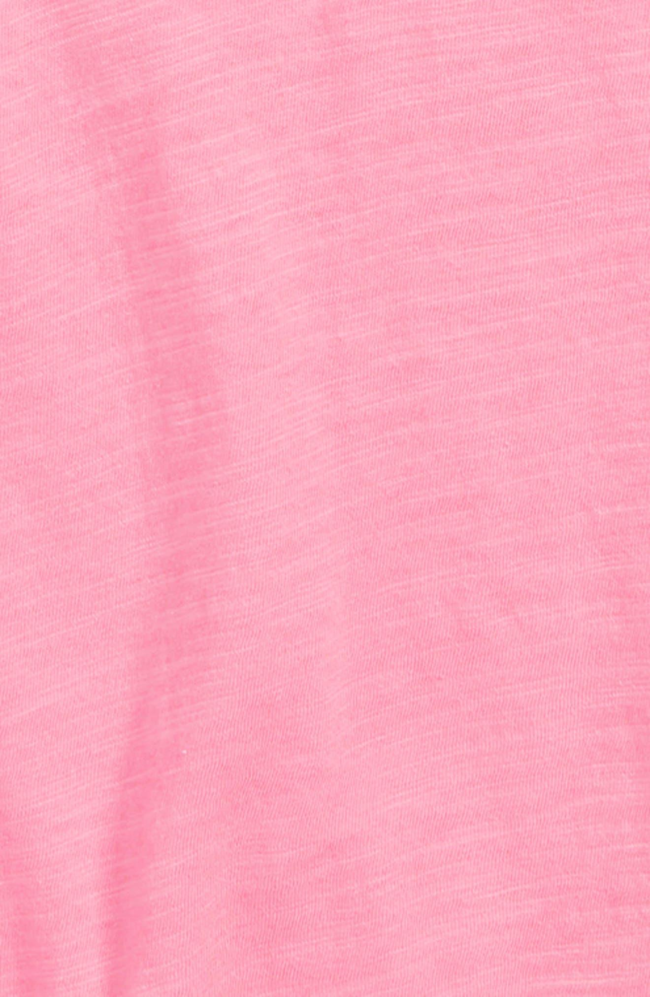 Raw Hem Dolman Tee,                             Alternate thumbnail 2, color,                             PINK SACHET