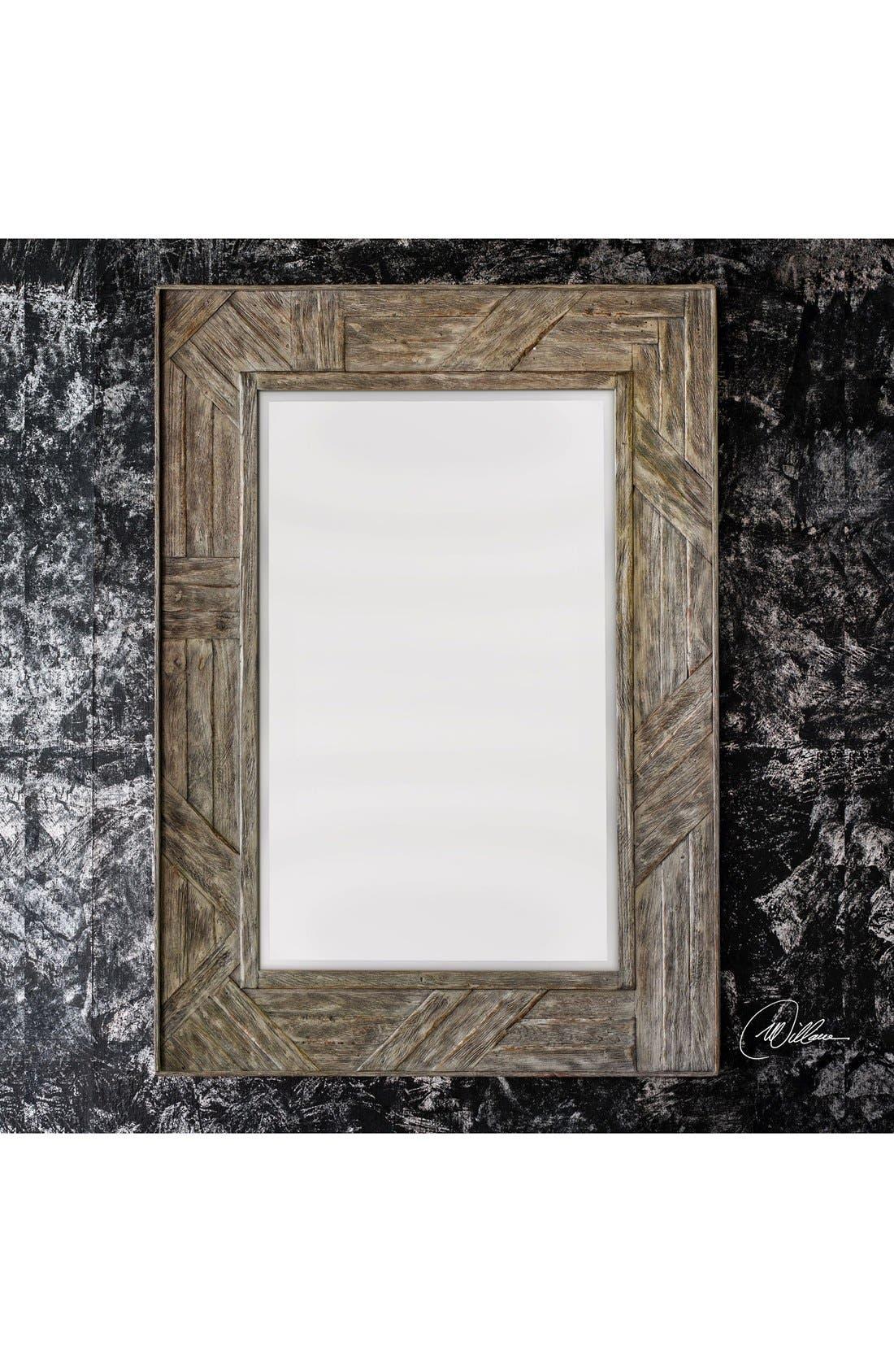 'Fortuo' Mahogany Wood Mirror,                             Alternate thumbnail 2, color,                             200