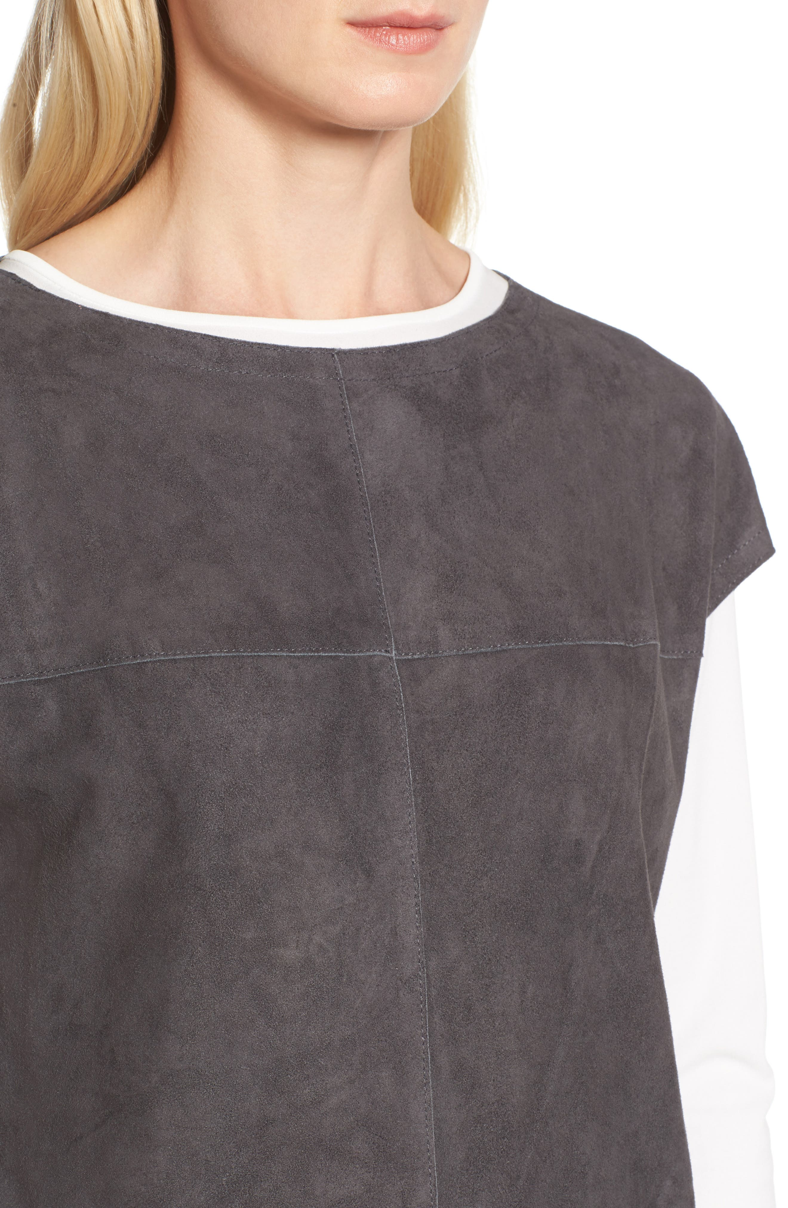 Suede Tunic,                             Alternate thumbnail 4, color,                             210