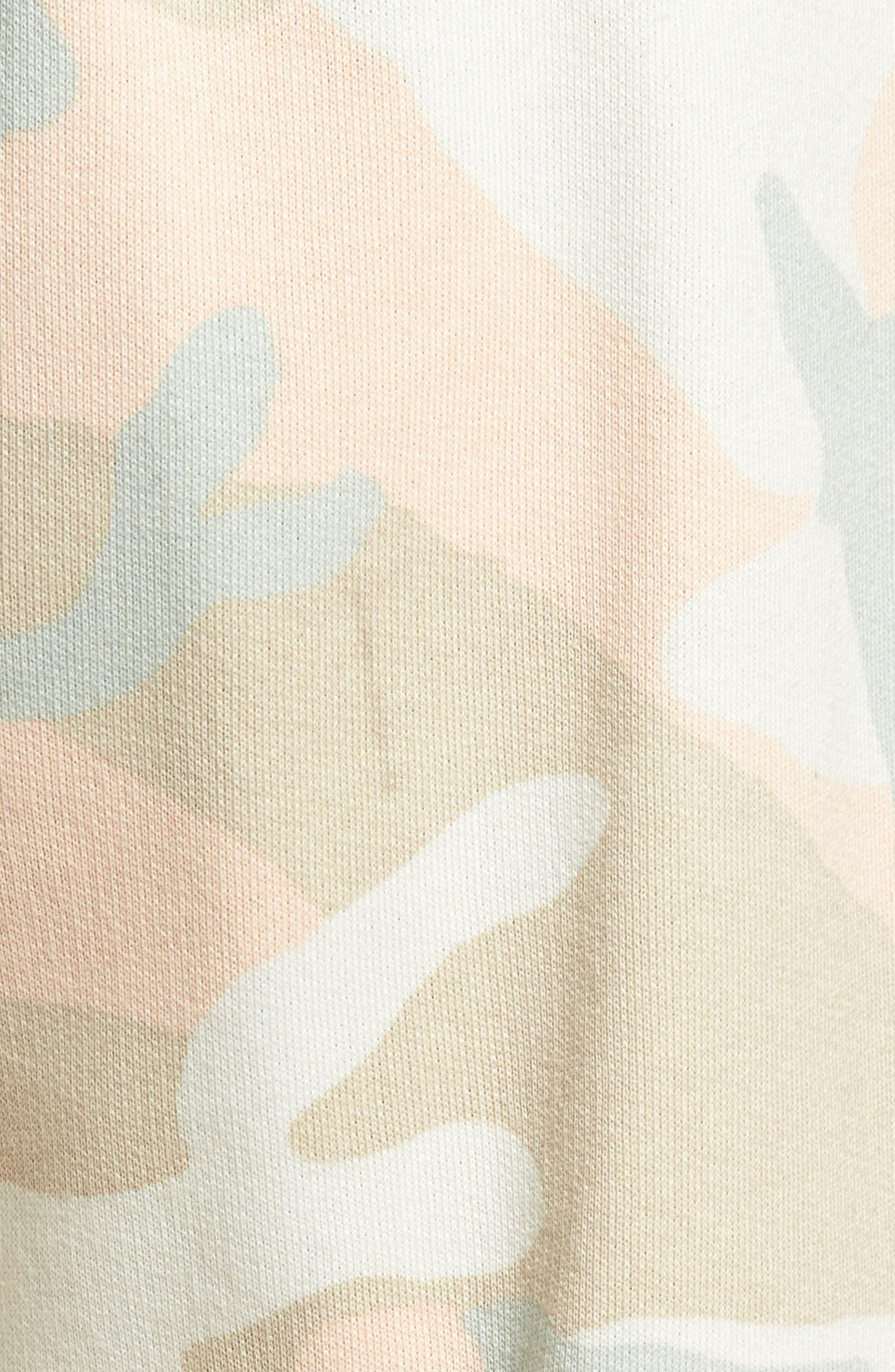 Marty Pastel Camo Fleece Shorts,                             Alternate thumbnail 5, color,                             650