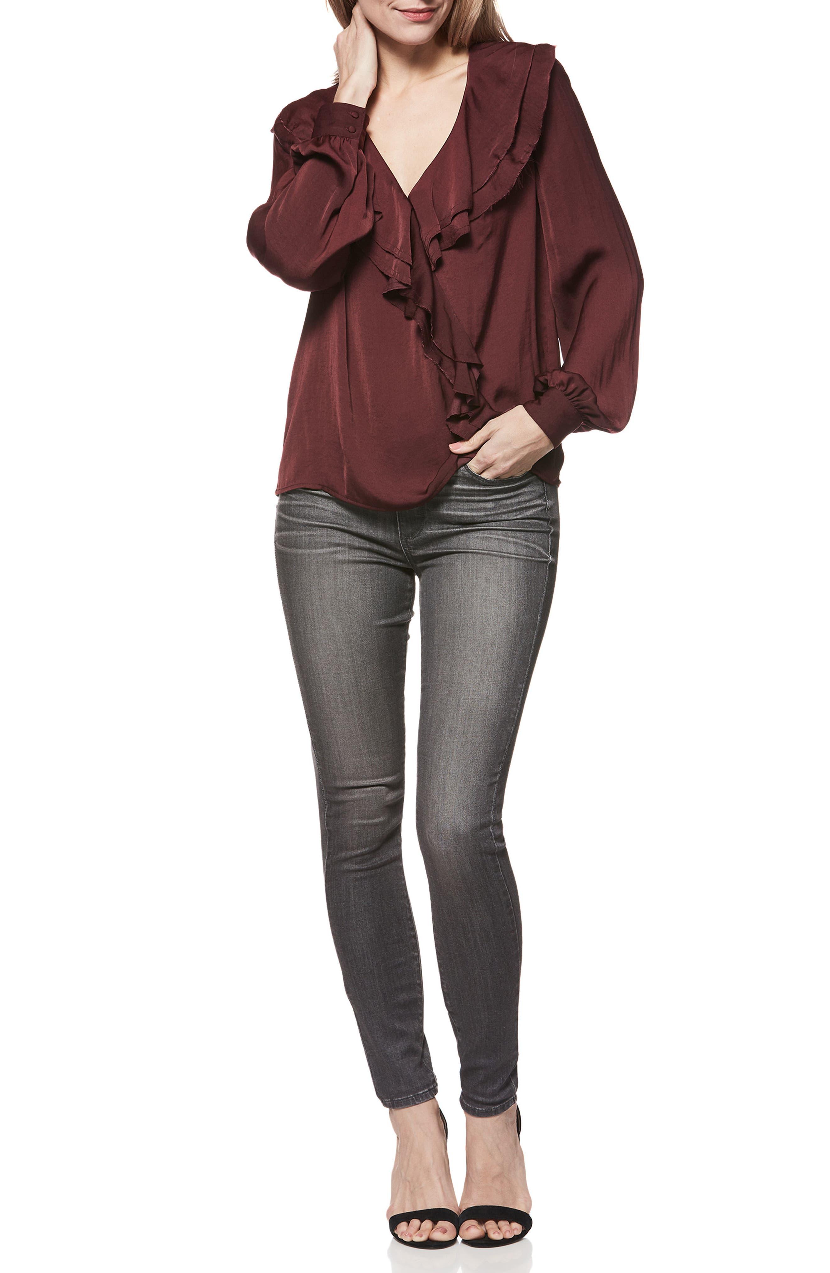 Hoxton Transcend High Waist Skinny Jeans,                             Alternate thumbnail 3, color,                             GREY PEAKS