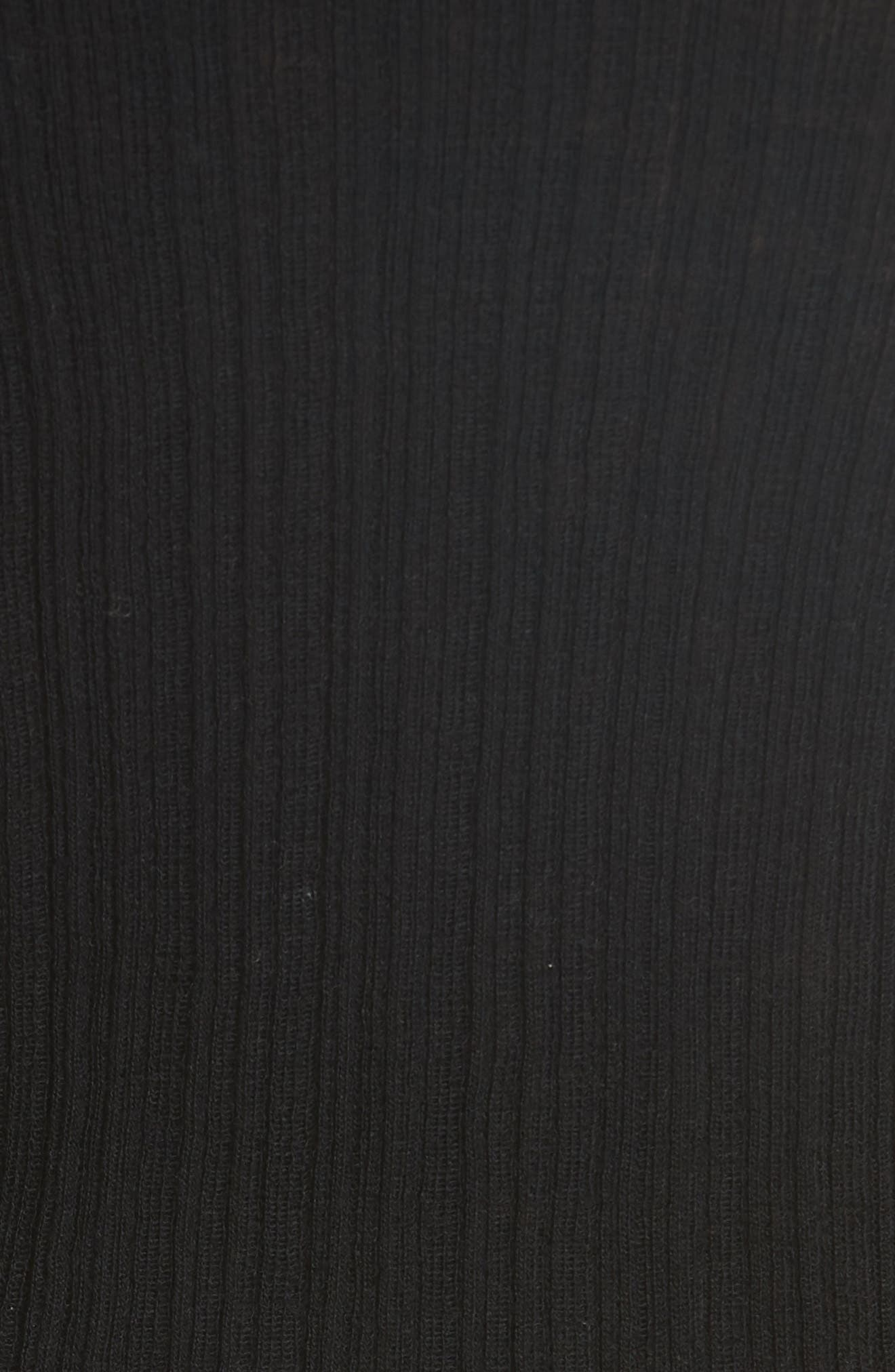Shrunken Merino Wool Sweater,                             Alternate thumbnail 5, color,                             BLACK