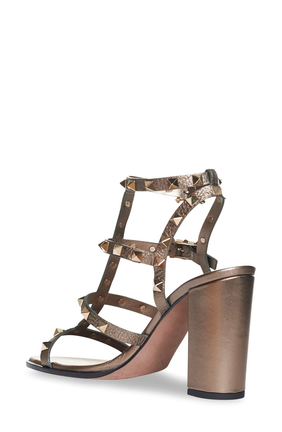 'Rockstud' Cage Sandal,                             Alternate thumbnail 2, color,                             229