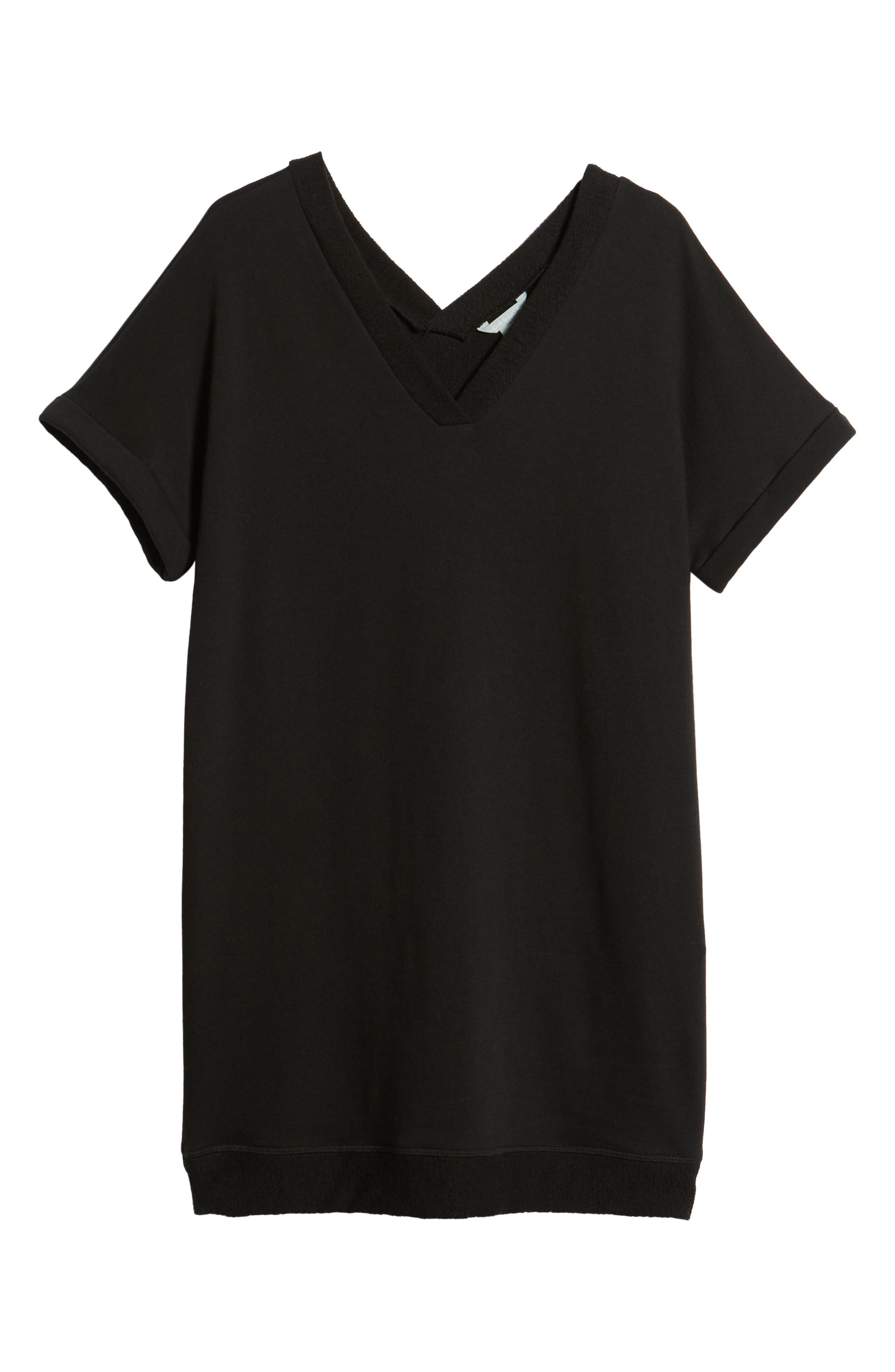 CASLON<SUP>®</SUP>,                             Off-Duty French Terry Dress,                             Alternate thumbnail 7, color,                             001