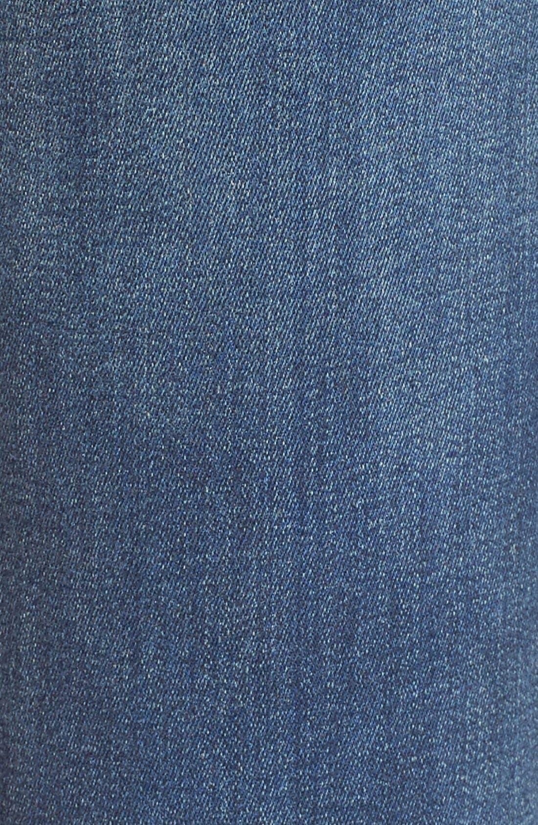 'Thompson' Distressed Skinny Jeans,                             Alternate thumbnail 5, color,