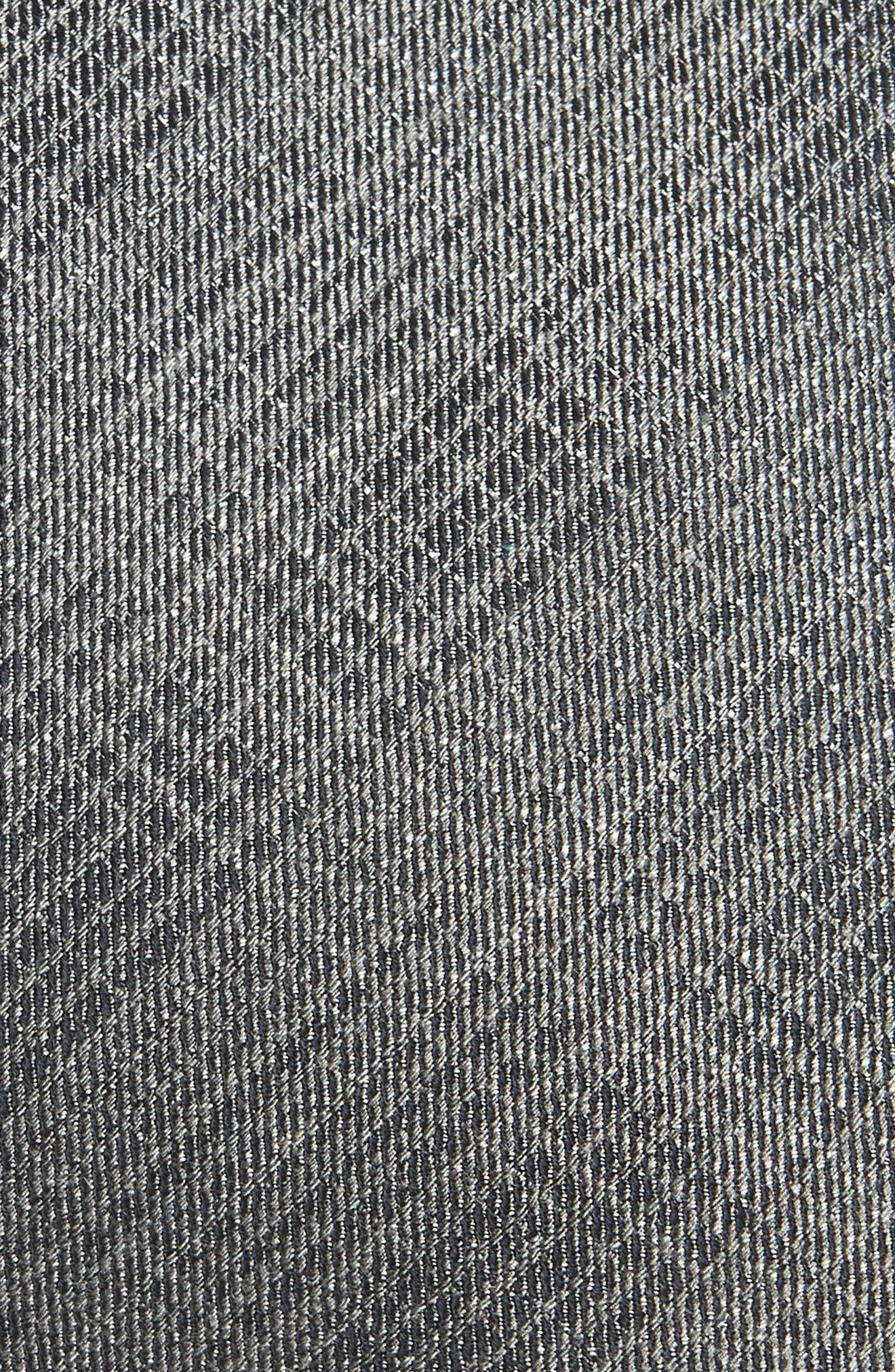 Crosshatch Tie,                             Alternate thumbnail 2, color,                             SILVER GREY