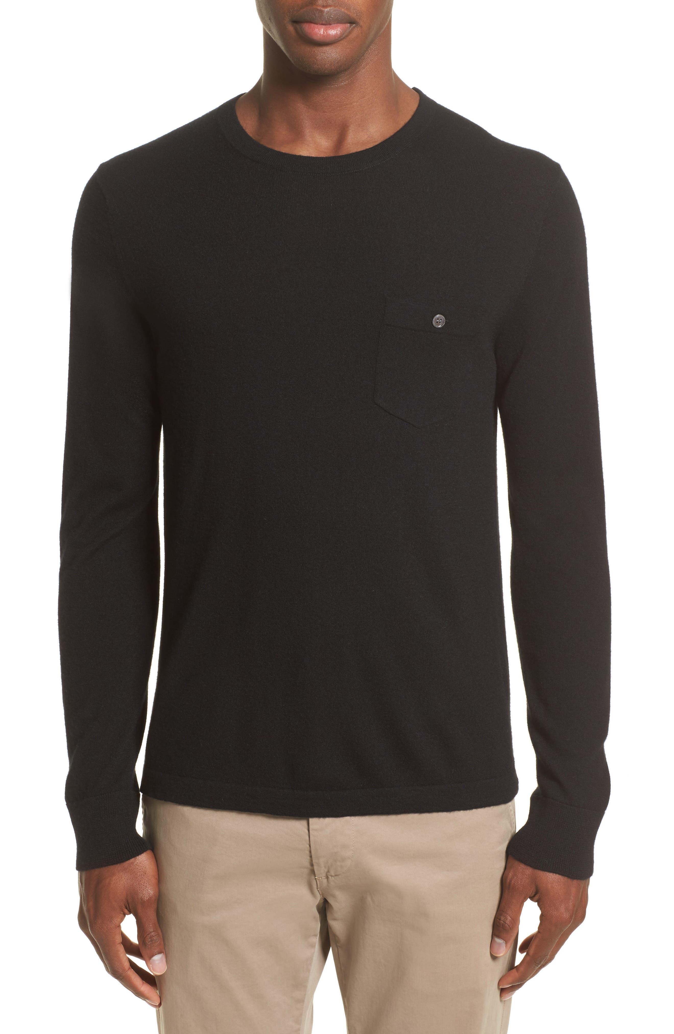 Cashmere Pocket T-Shirt,                             Main thumbnail 1, color,                             001