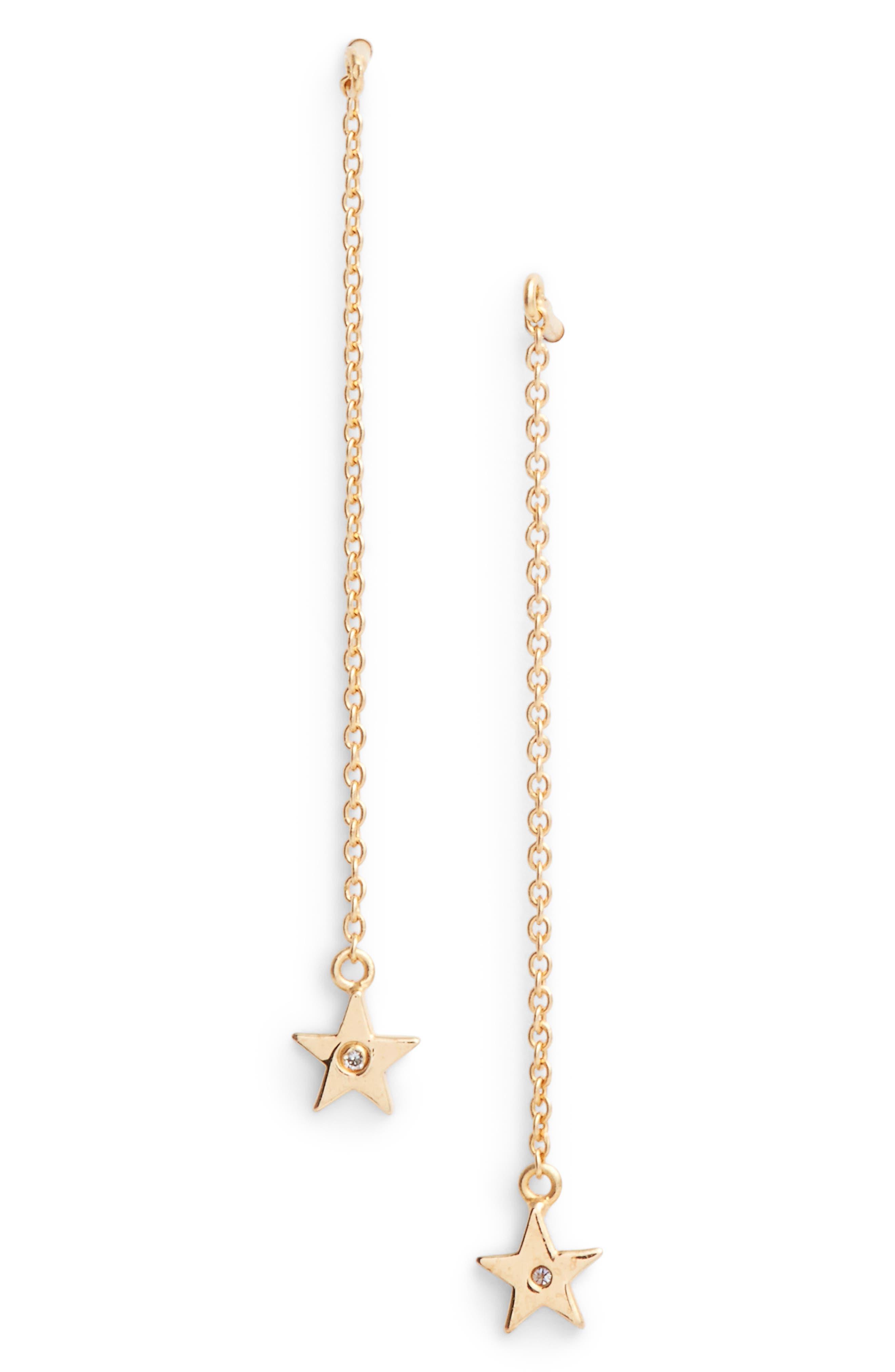 Star Threader Earrings,                         Main,                         color,