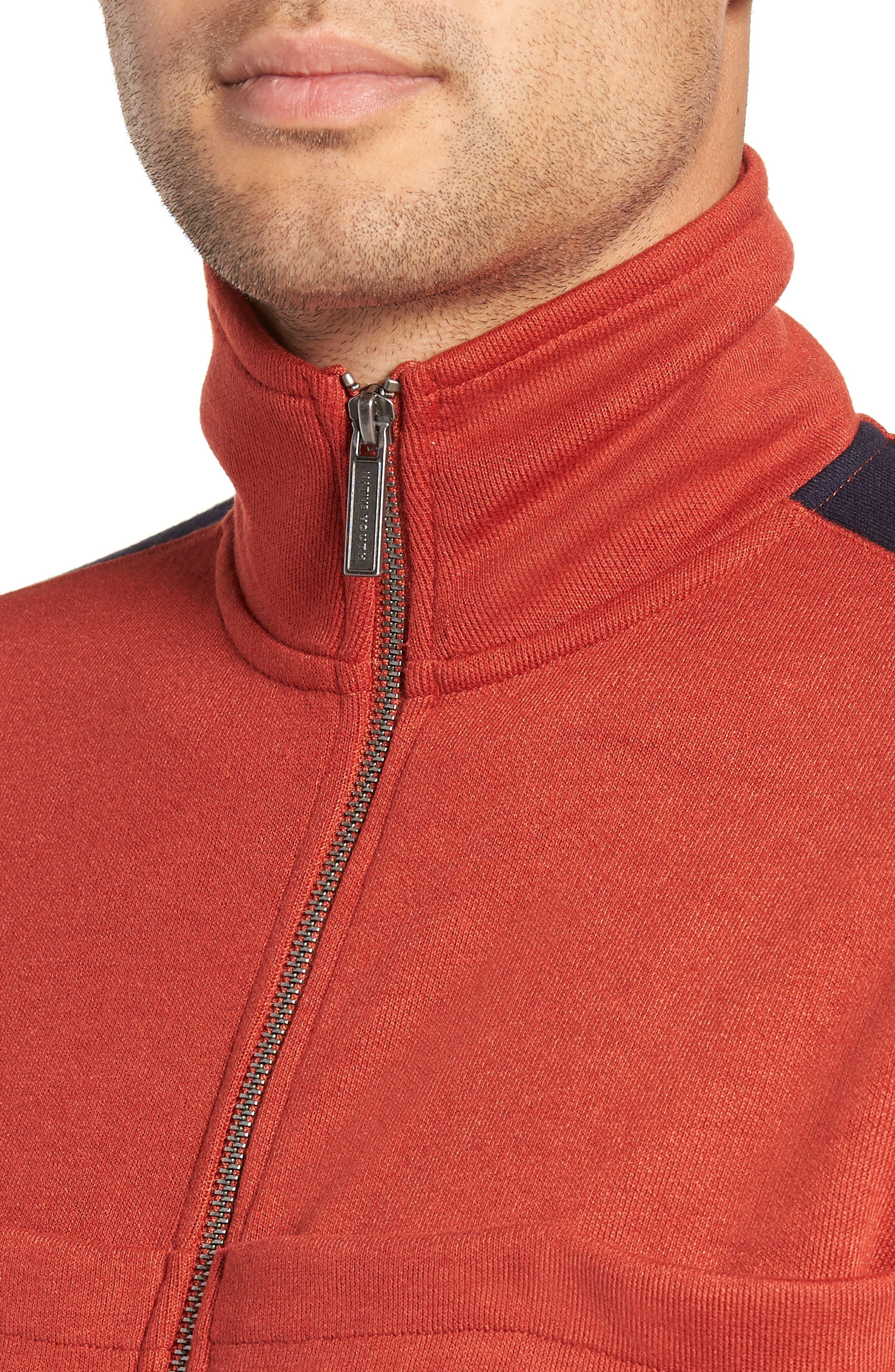 Colorblock Track Jacket,                             Alternate thumbnail 4, color,                             RUST