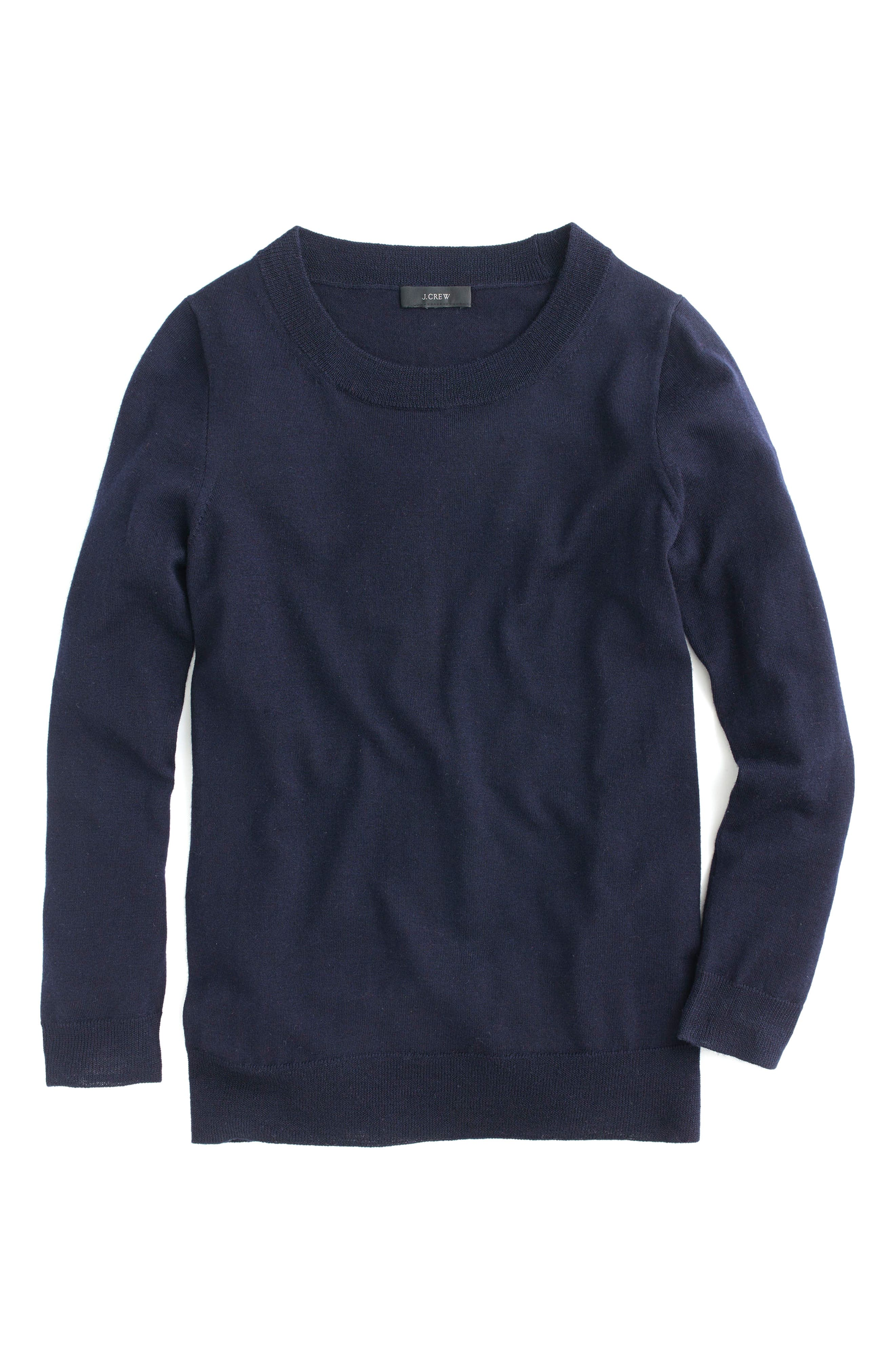 Tippi Merino Wool Sweater,                             Main thumbnail 1, color,                             NAVY